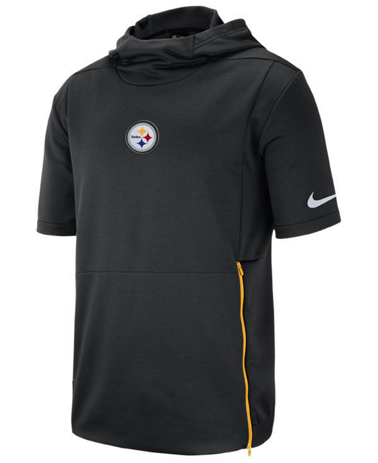 2ce7221d1 Lyst - Nike Pittsburgh Steelers Therma Top Short Sleeve Jacket in ...