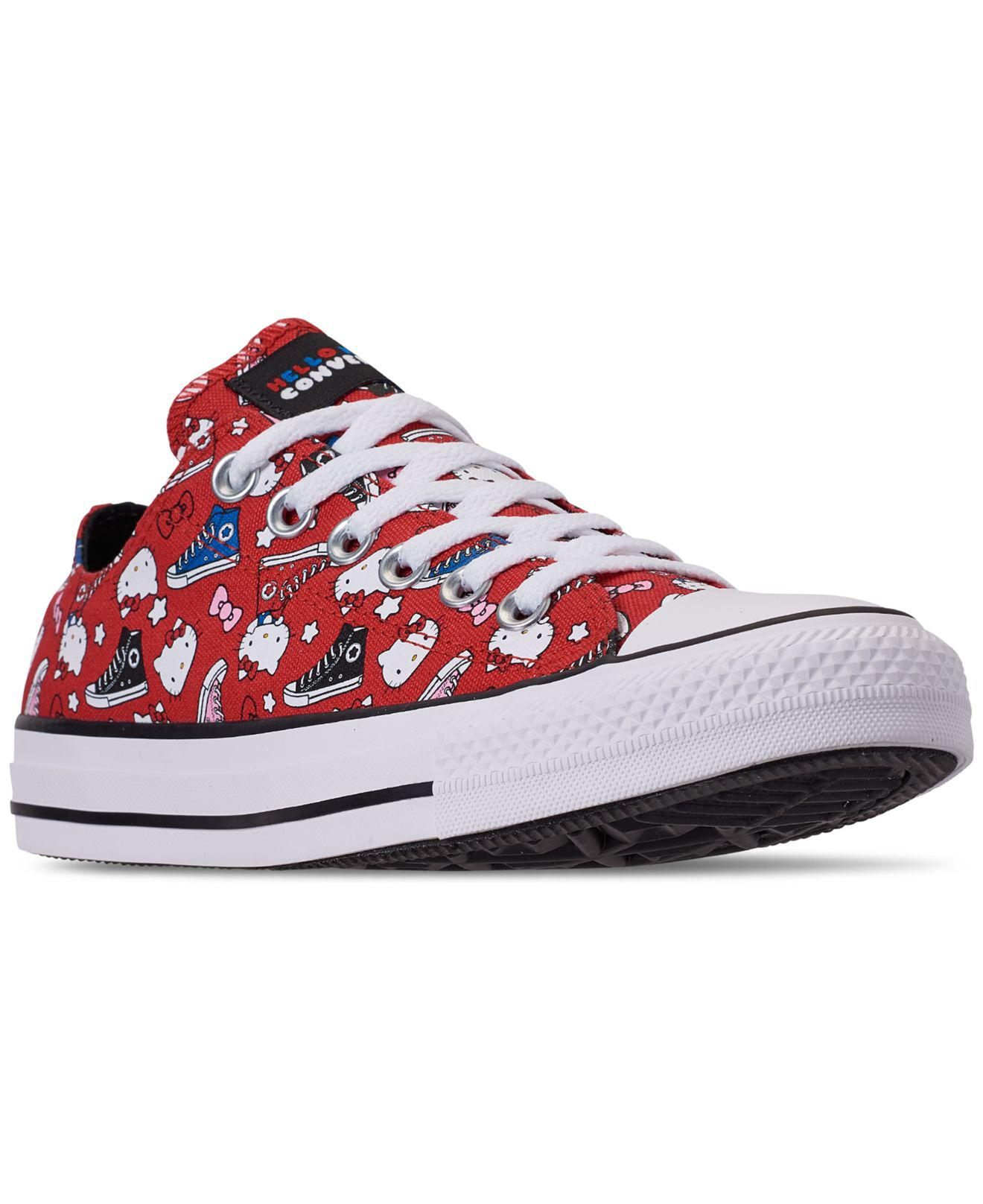 385244982273 Lyst - Converse X Hello Kitty Chuck Taylor Ox Red All Over Print ...