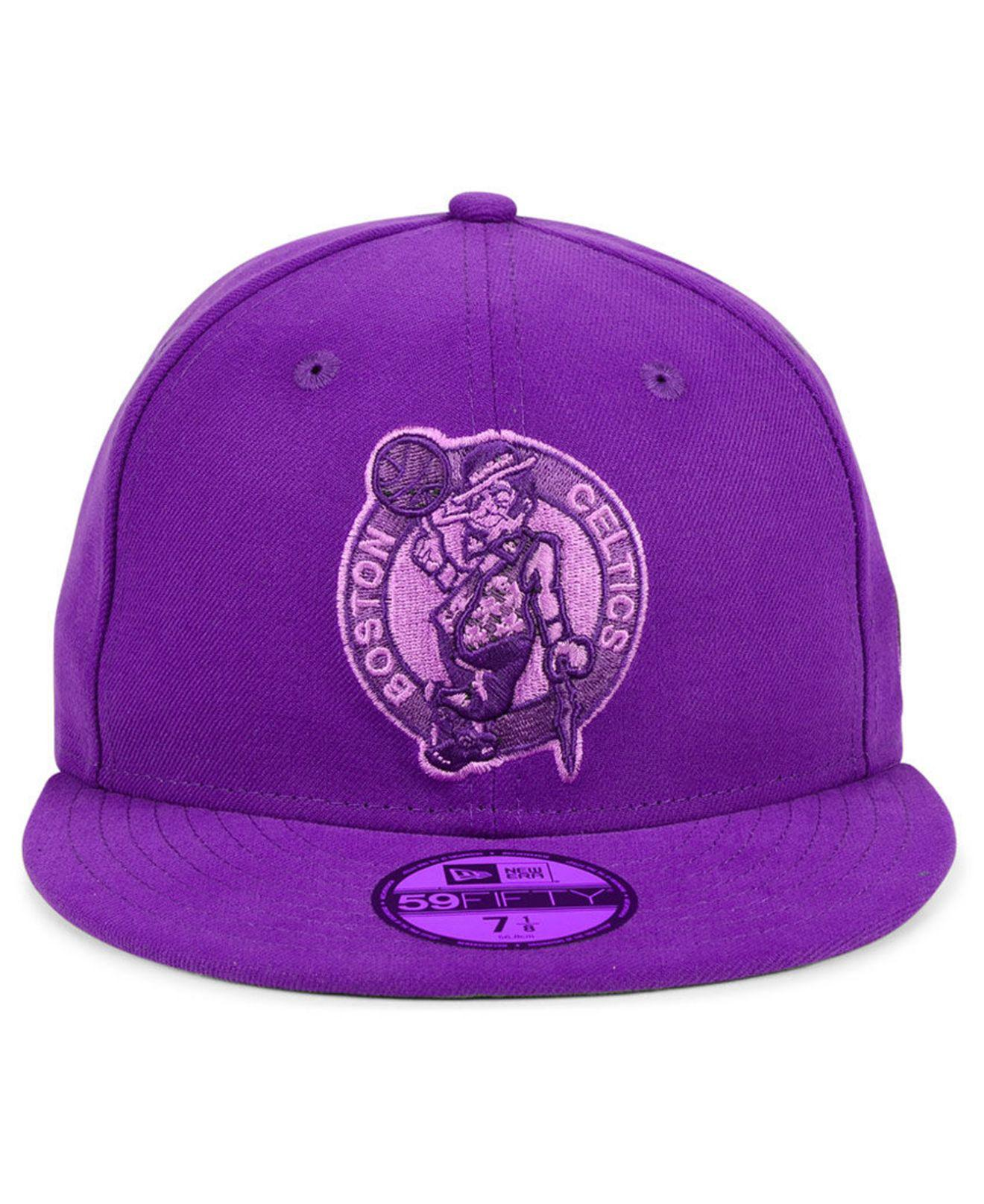 huge discount 9b1ca 2e9c9 KTZ Boston Celtics Color Prism Pack 59fifty Cap in Purple for Men - Lyst