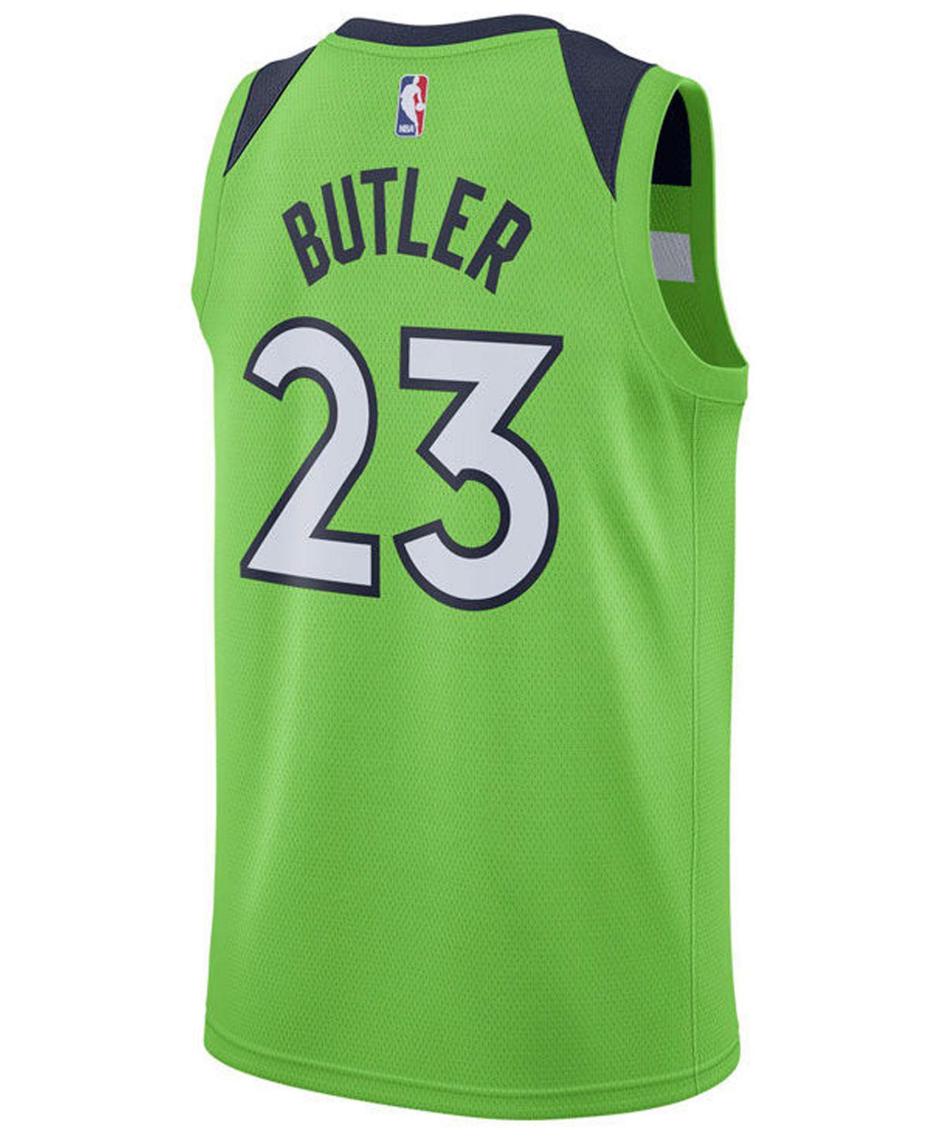 2377555b9a6 ... italy lyst nike jimmy butler minnesota timberwolves statement swingman  jersey in green for men save 58.064516129032256