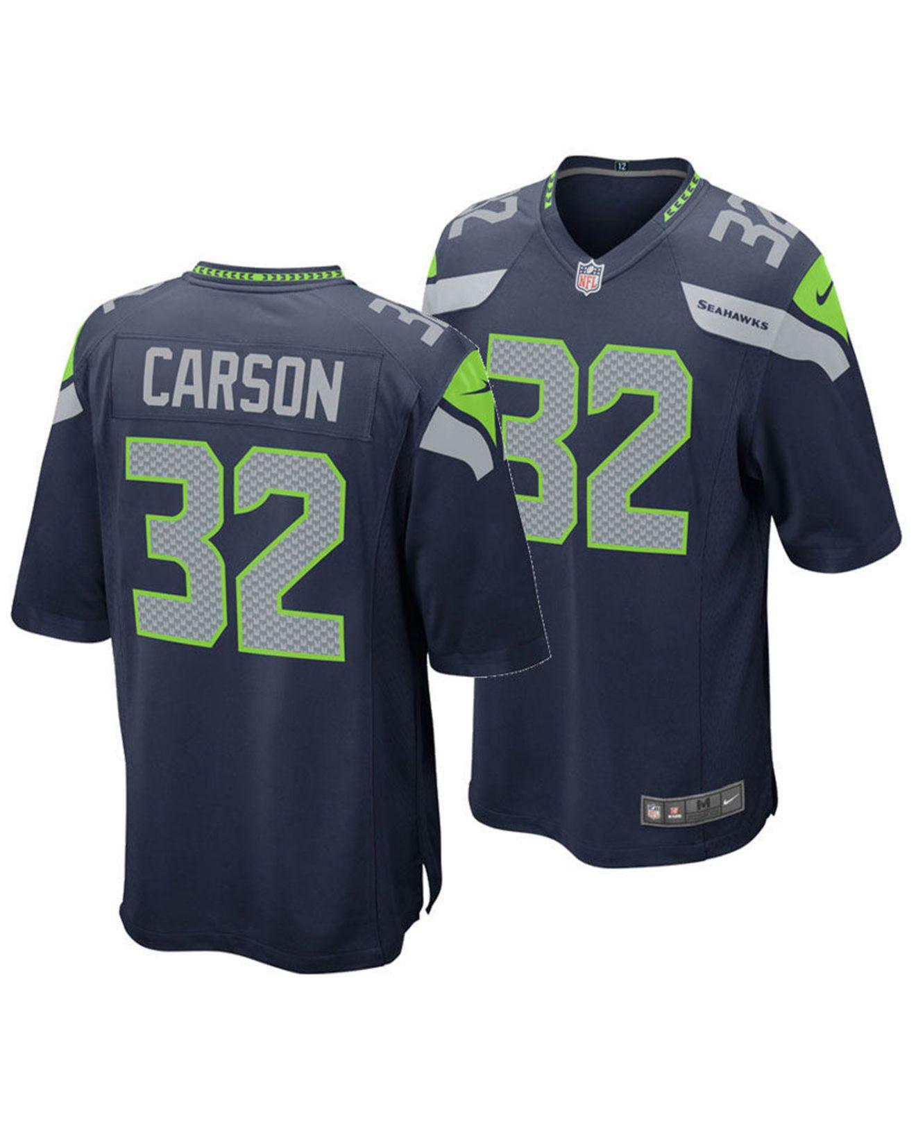 Lyst - Nike Chris Carson Seattle Seahawks Game Jersey in Blue for Men 3a823bb6f