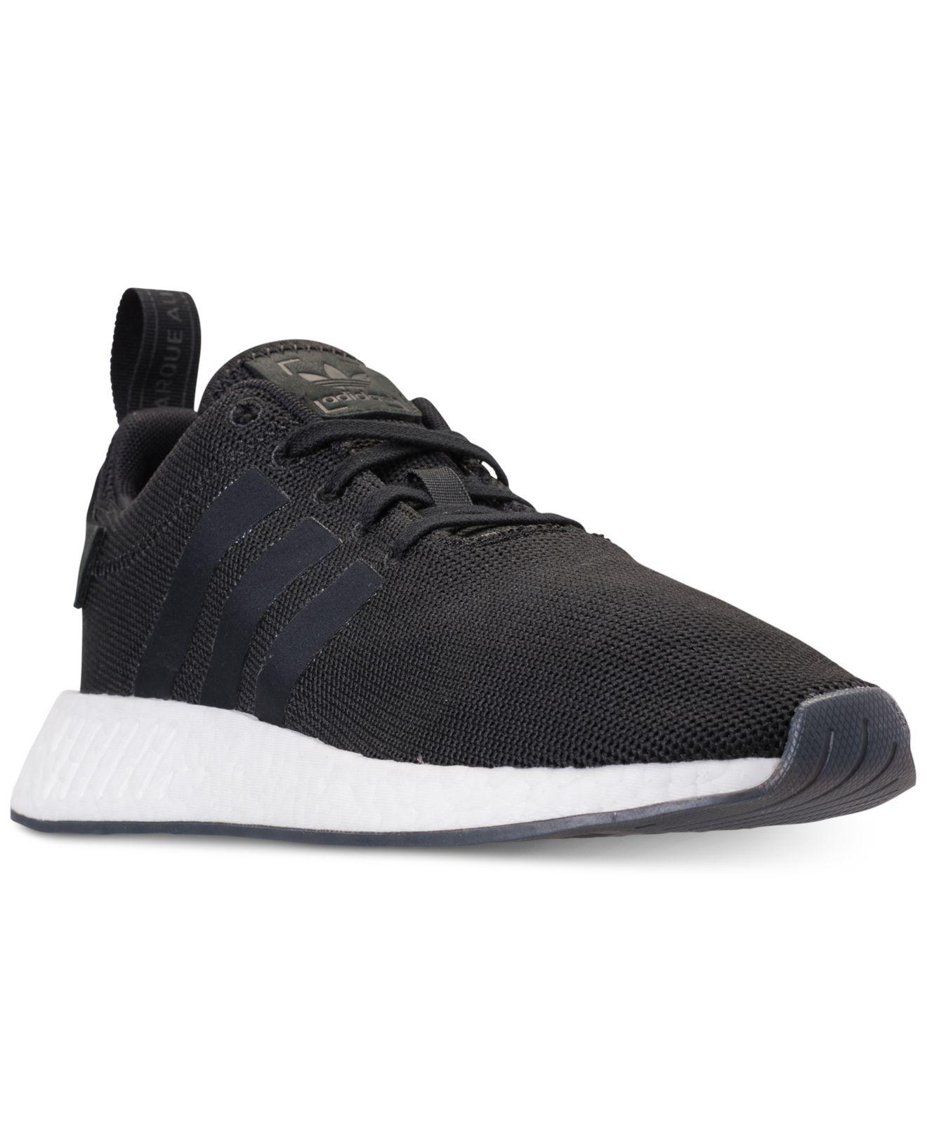 39e2d78ae Lyst - adidas Nmd R2 Casual Sneakers From Finish Line in Black for Men