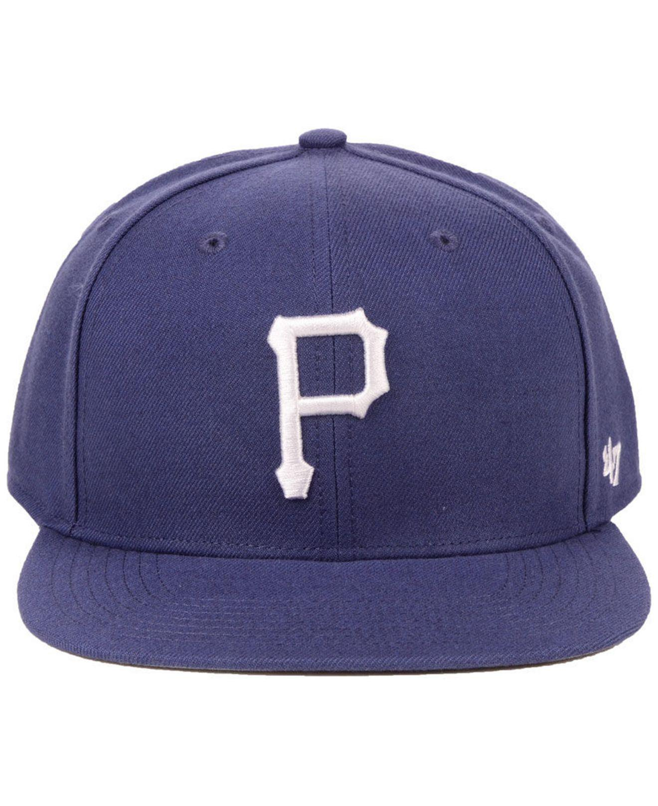 sports shoes 4ed57 25d45 Lyst - 47 Brand Pittsburgh Pirates Autumn Snapback Cap in Blue for Men