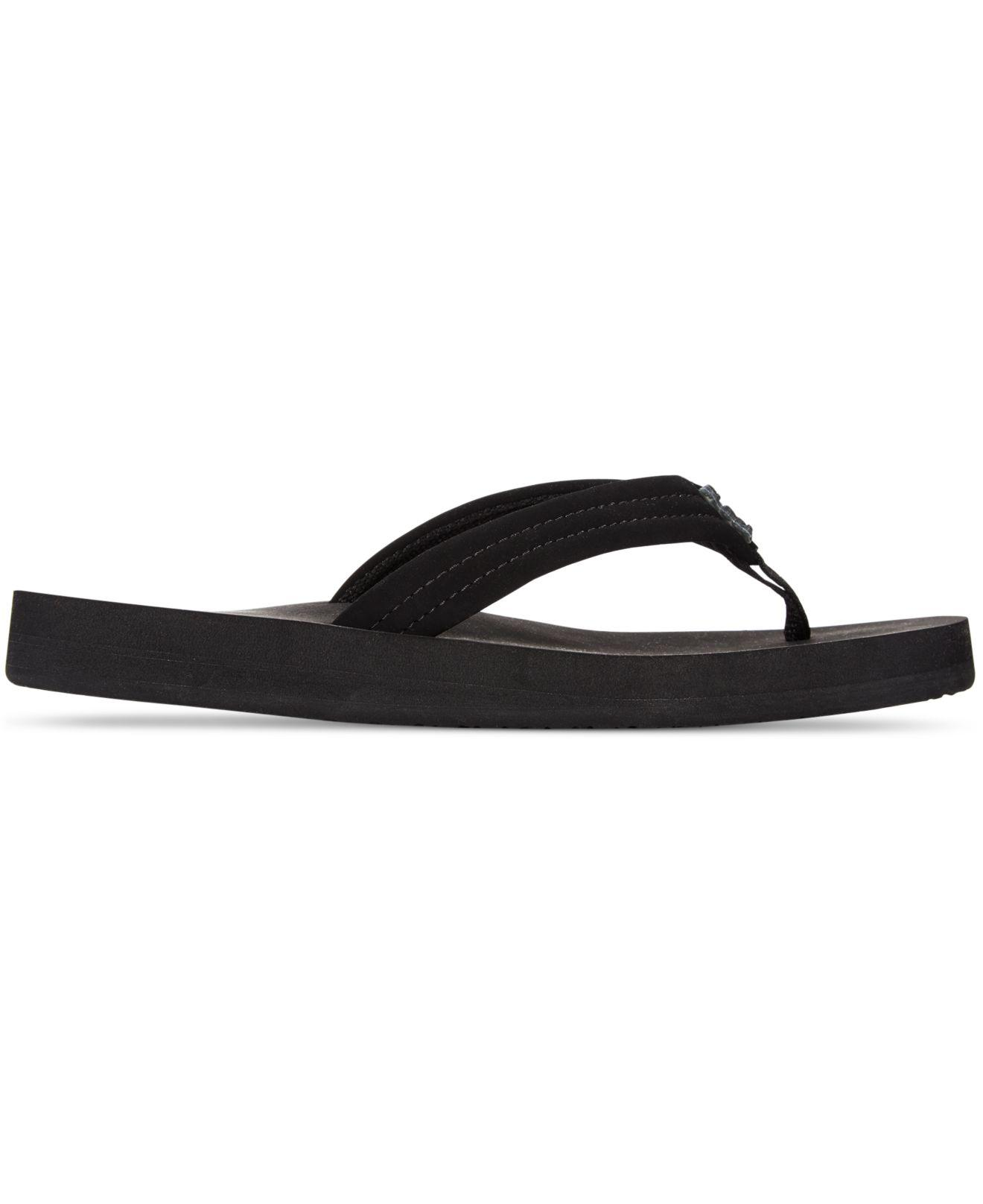 501405ce5a Lyst - Reef Cushion Breeze Thong Flip-flop Flatform Sandals in Black