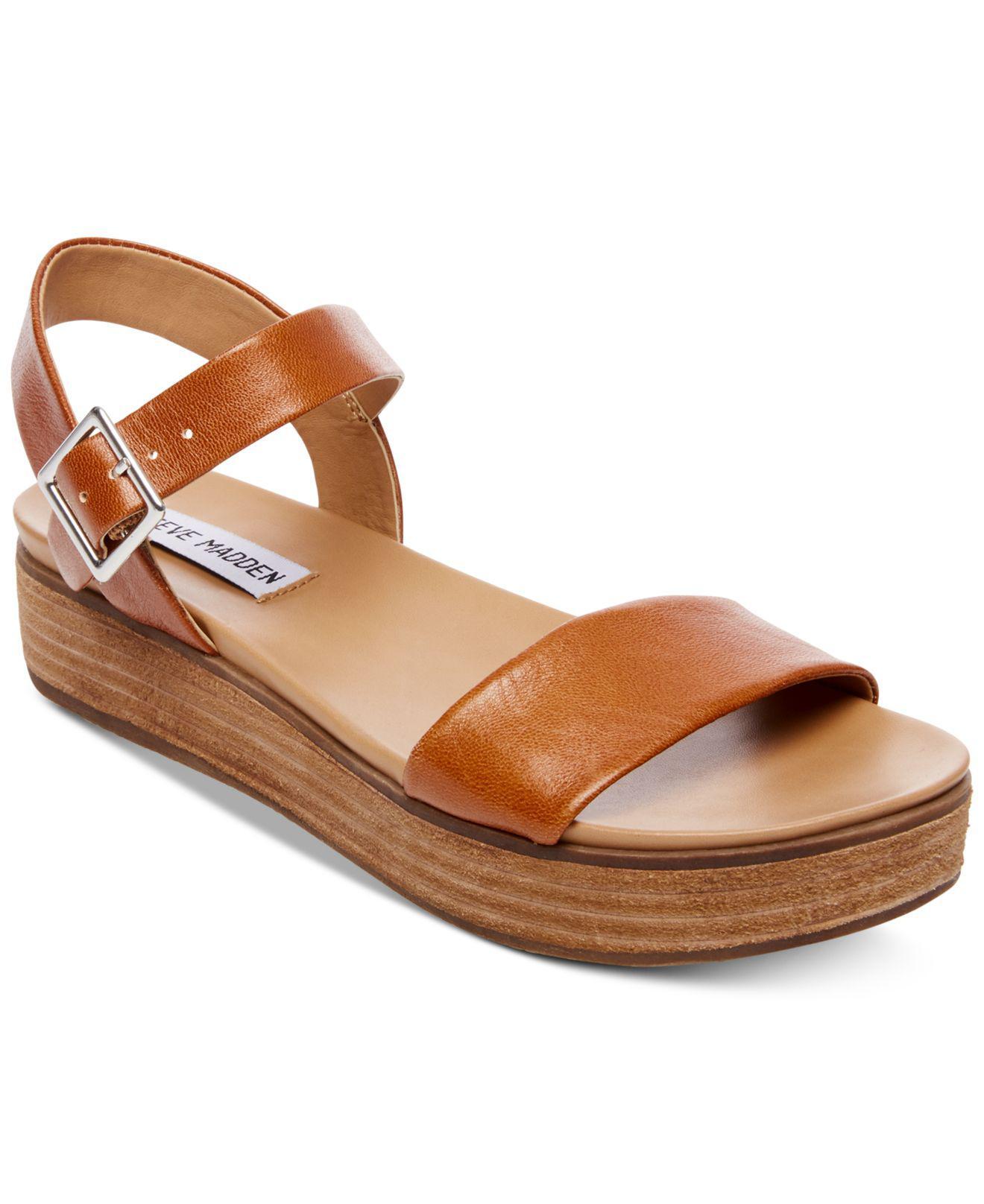 a416e0a29e2 Lyst - Steve Madden Aida Flatform Sandals in Brown