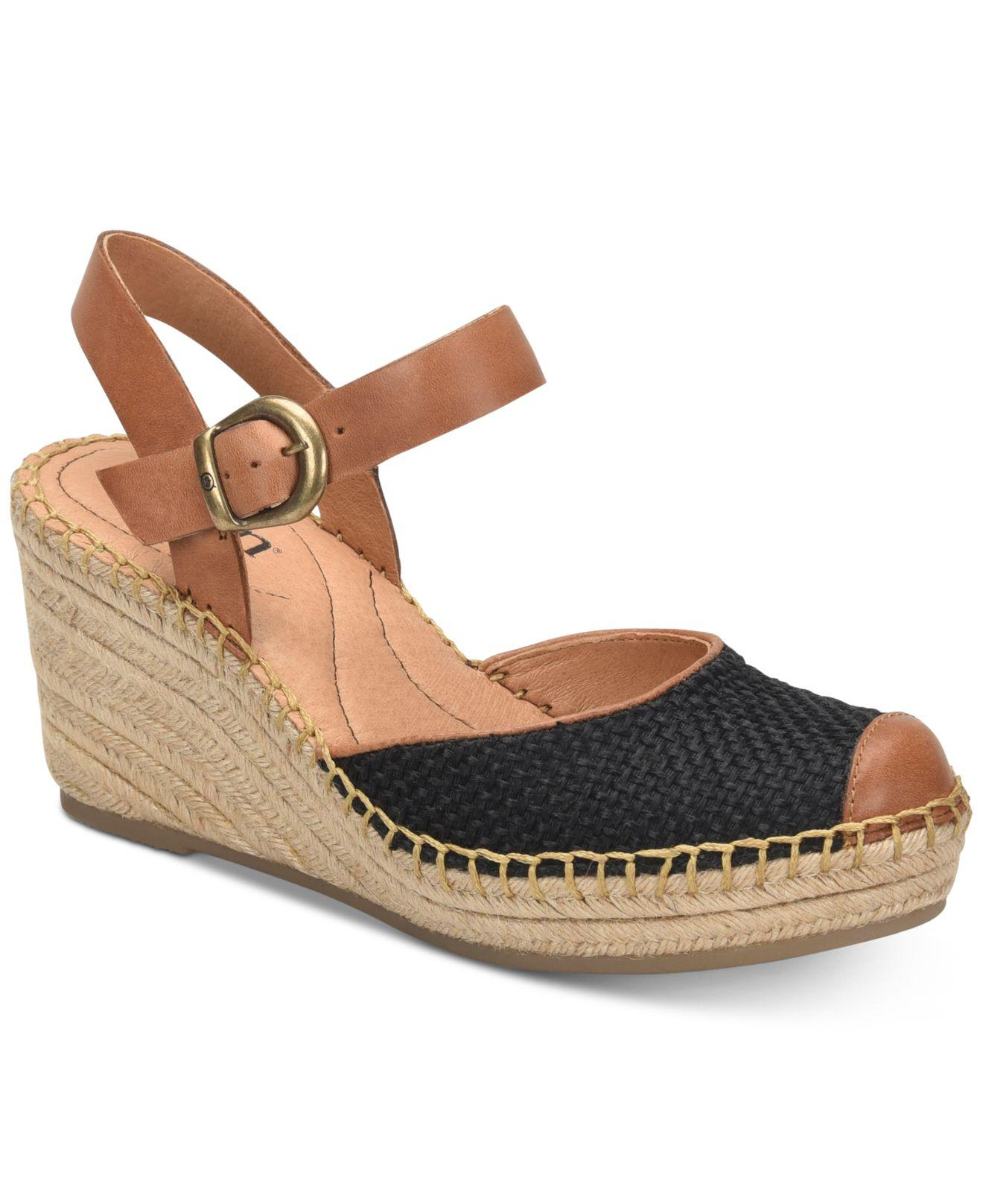 ae0a9ed742ab Lyst - Born Guadalupe Wedge Sandals in Black