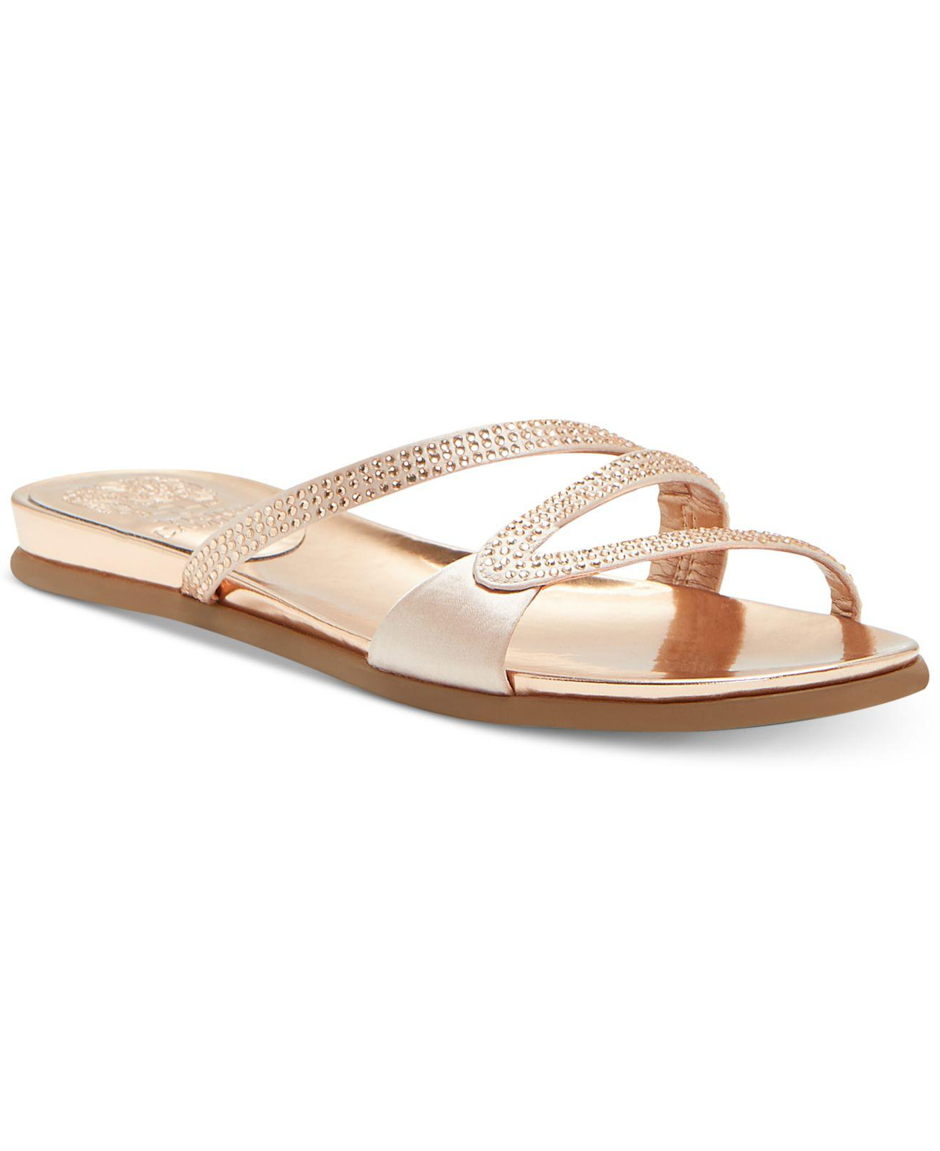 Vince Camuto Elouisa Jeweled Satin Sandals WxZF0wmupj