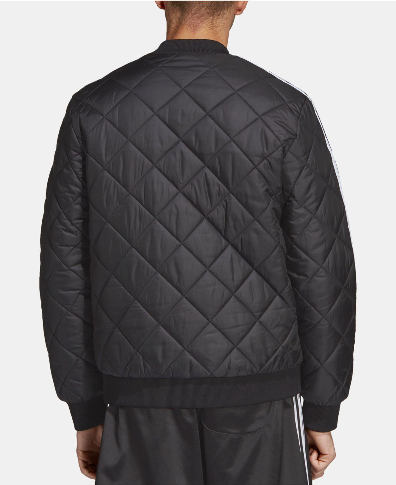 f0f06ea82e9d Lyst - adidas Originals Adicolor Sst Quilted Bomber Jacket in Black for Men