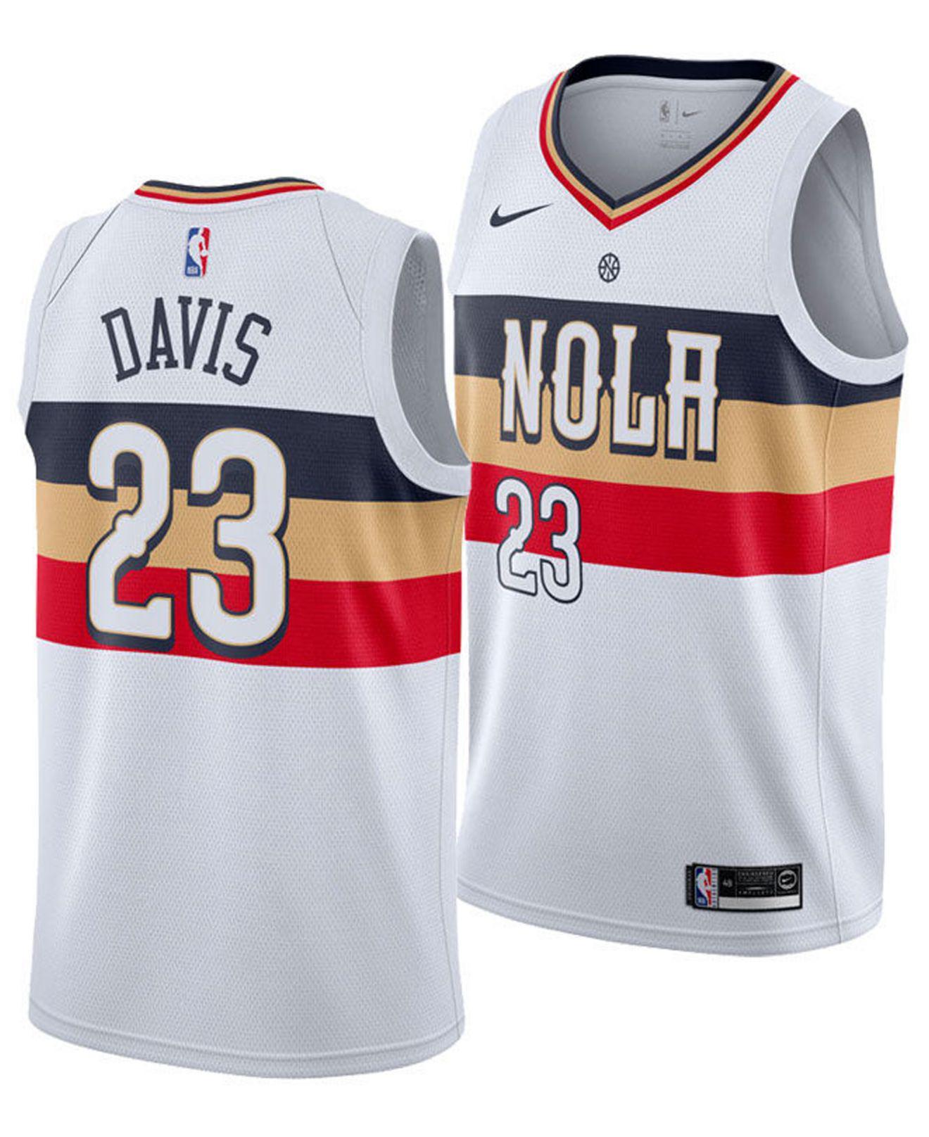 d4bb5d14fe75 Nike Anthony Davis (nba) Earned City Edition Swingman (new Orleans ...