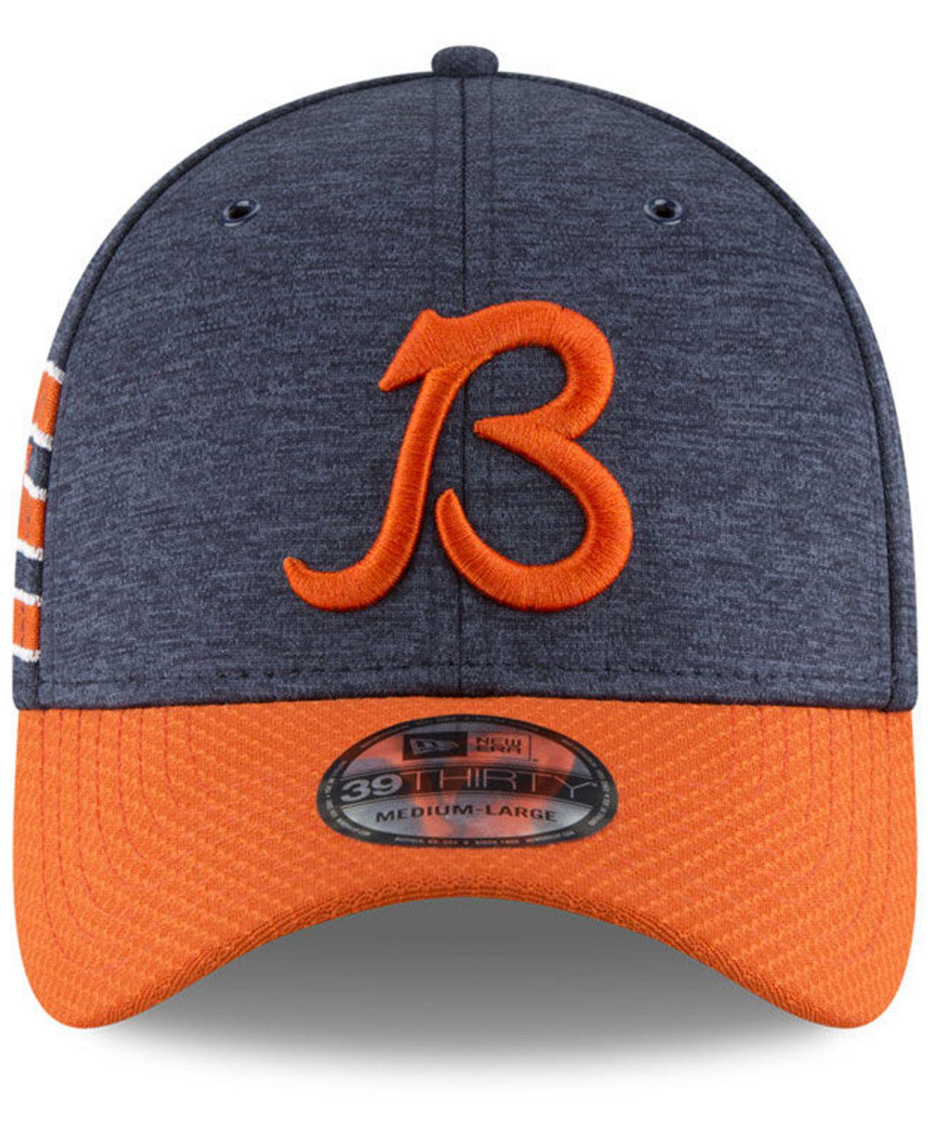 competitive price 5cf73 2332f Lyst - Ktz Chicago Bears On Field Sideline Home 39thirty Cap in Blue for Men