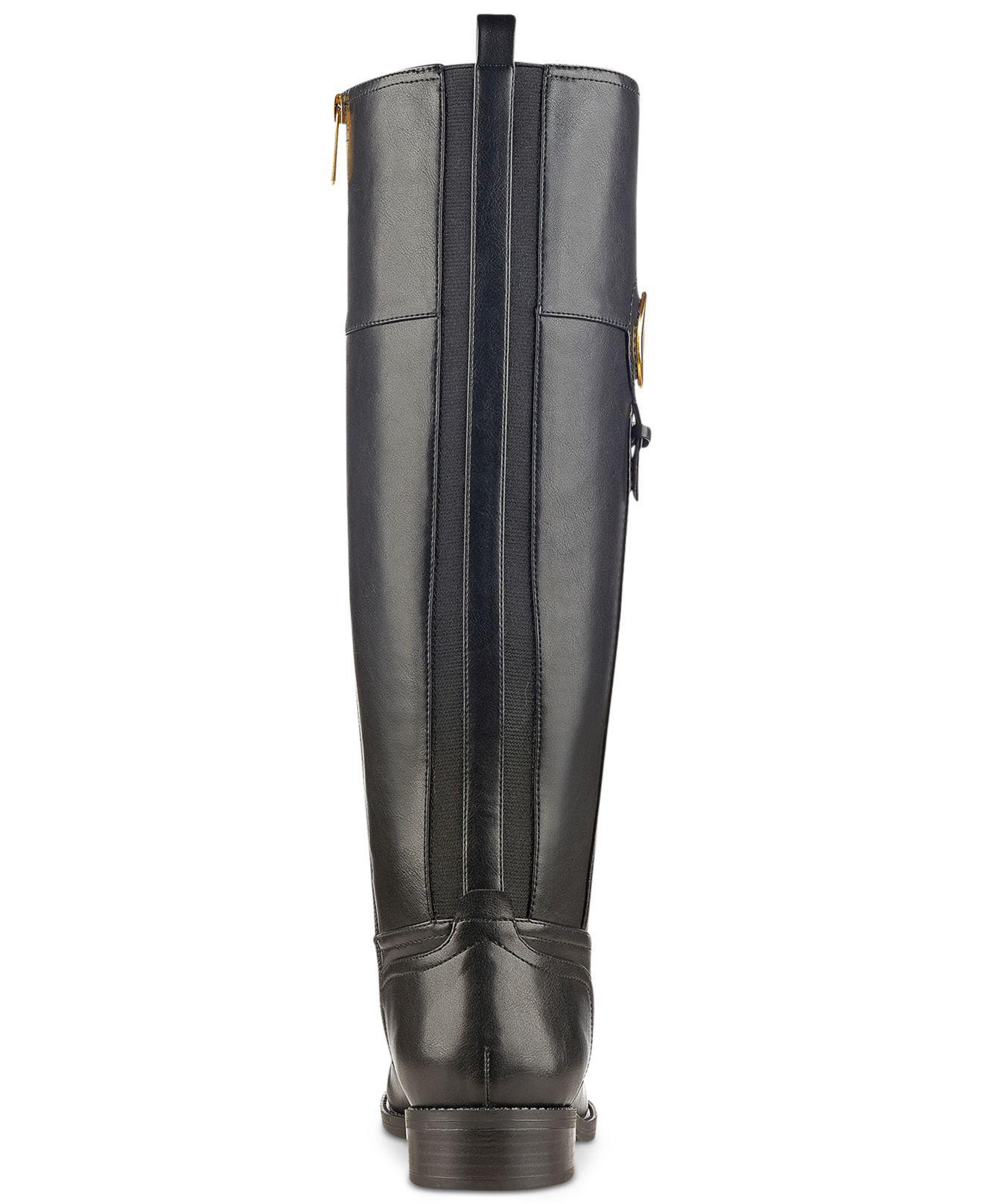 9c1d68a6c750f1 Tommy Hilfiger - Black Ilia2 Riding Boots - Lyst. View fullscreen
