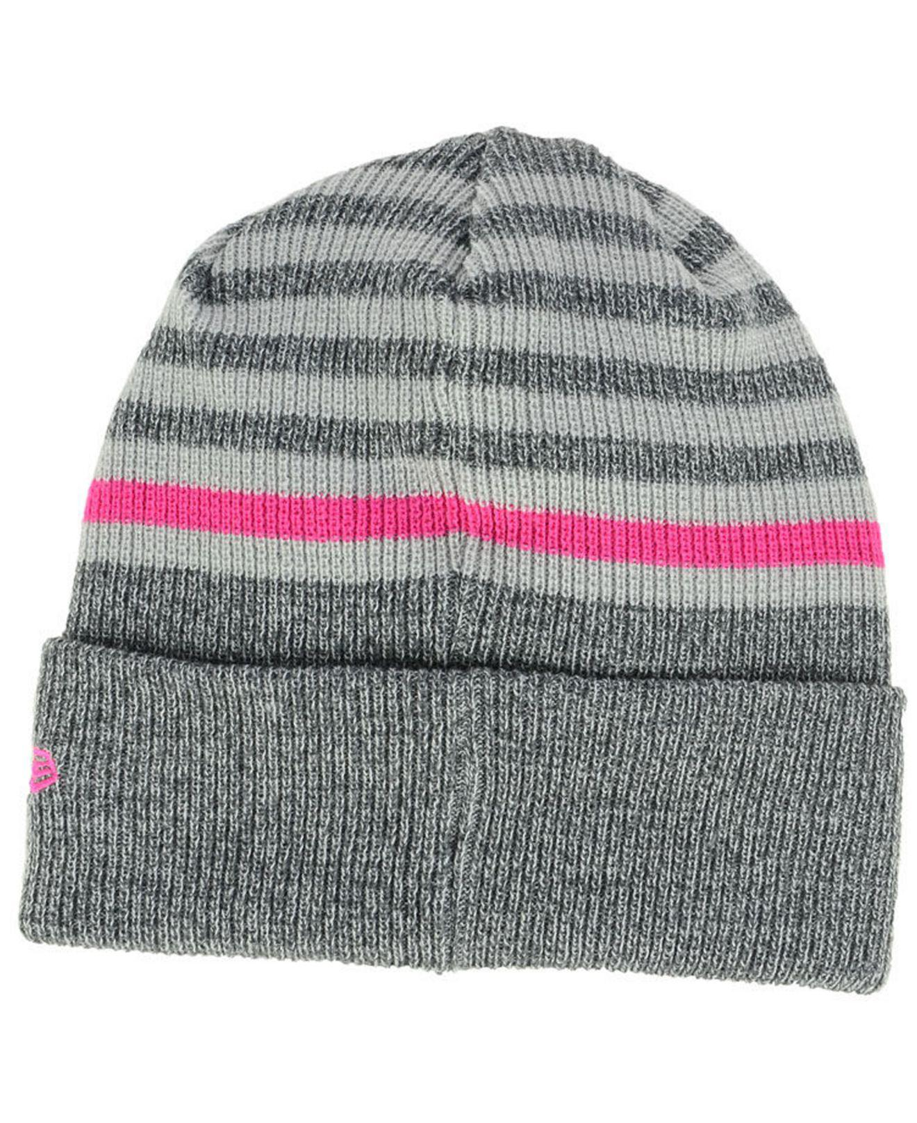 50041b4d204 ... ireland lyst ktz charlotte hornets striped cuff knit hat in gray for  men fe3bc 2cef0