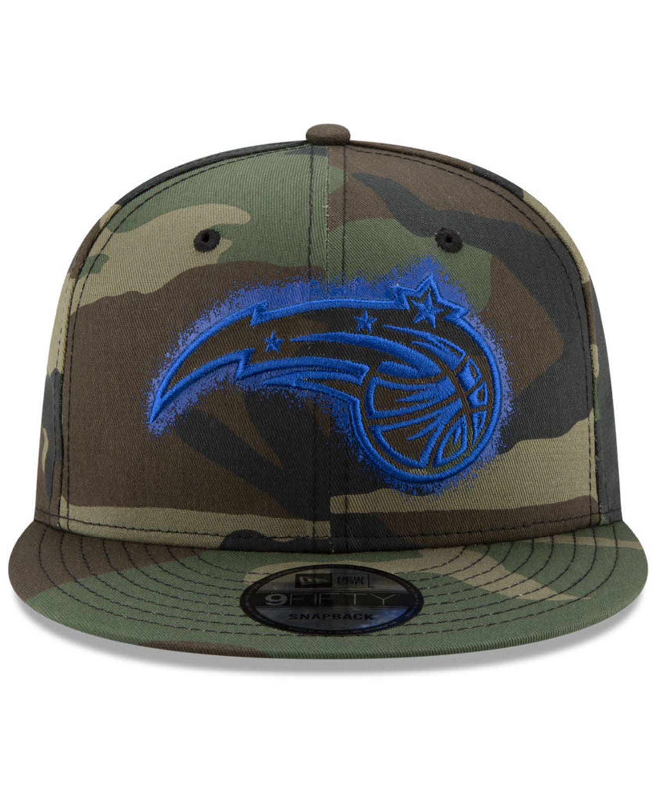 ea7131557d1 Lyst - Ktz Orlando Magic Overspray 9fifty Snapback Cap in Green for Men