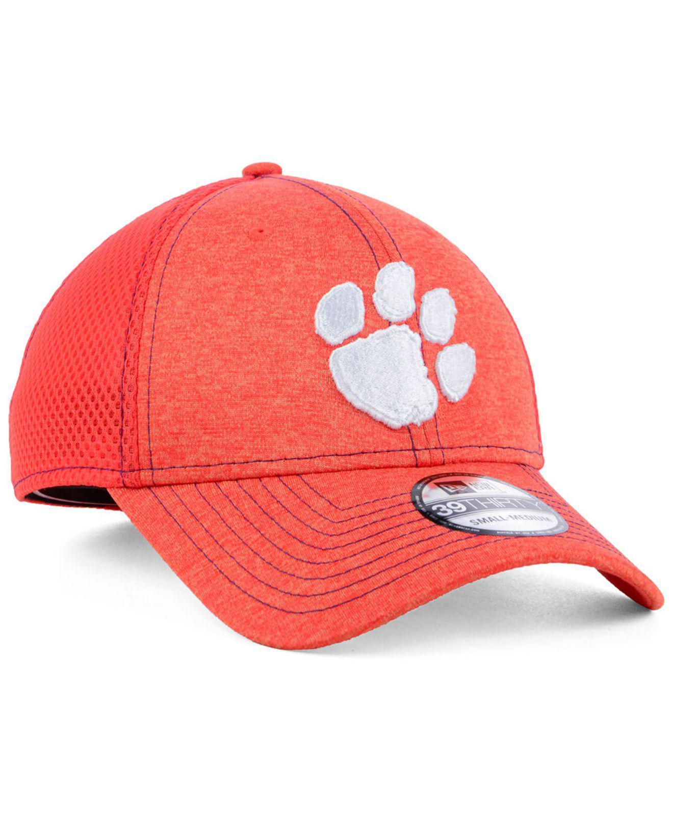 promo code 657a9 6731e KTZ - Orange Clemson Tigers Classic Shade Neo 39thirty Cap for Men - Lyst.  View fullscreen