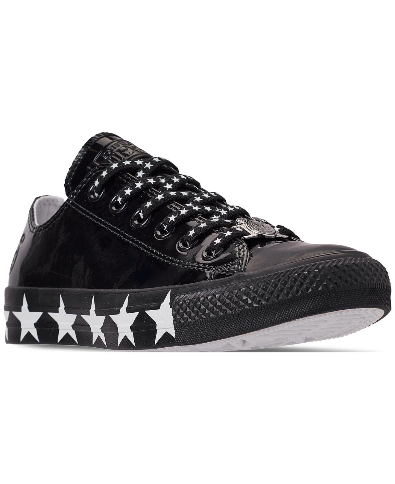 25c9bebd944b2e Converse. Women s Black Chuck Taylor All Star X Miley Cyrus Ox Casual  Sneakers From Finish Line
