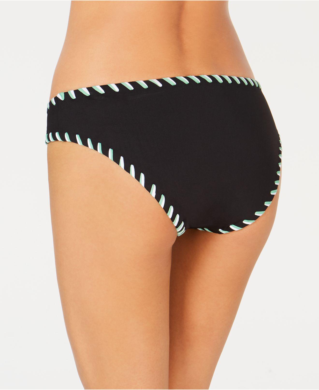 b46cb26341f1c Lyst - Becca Camille Reversible Bikini Bottoms in Black