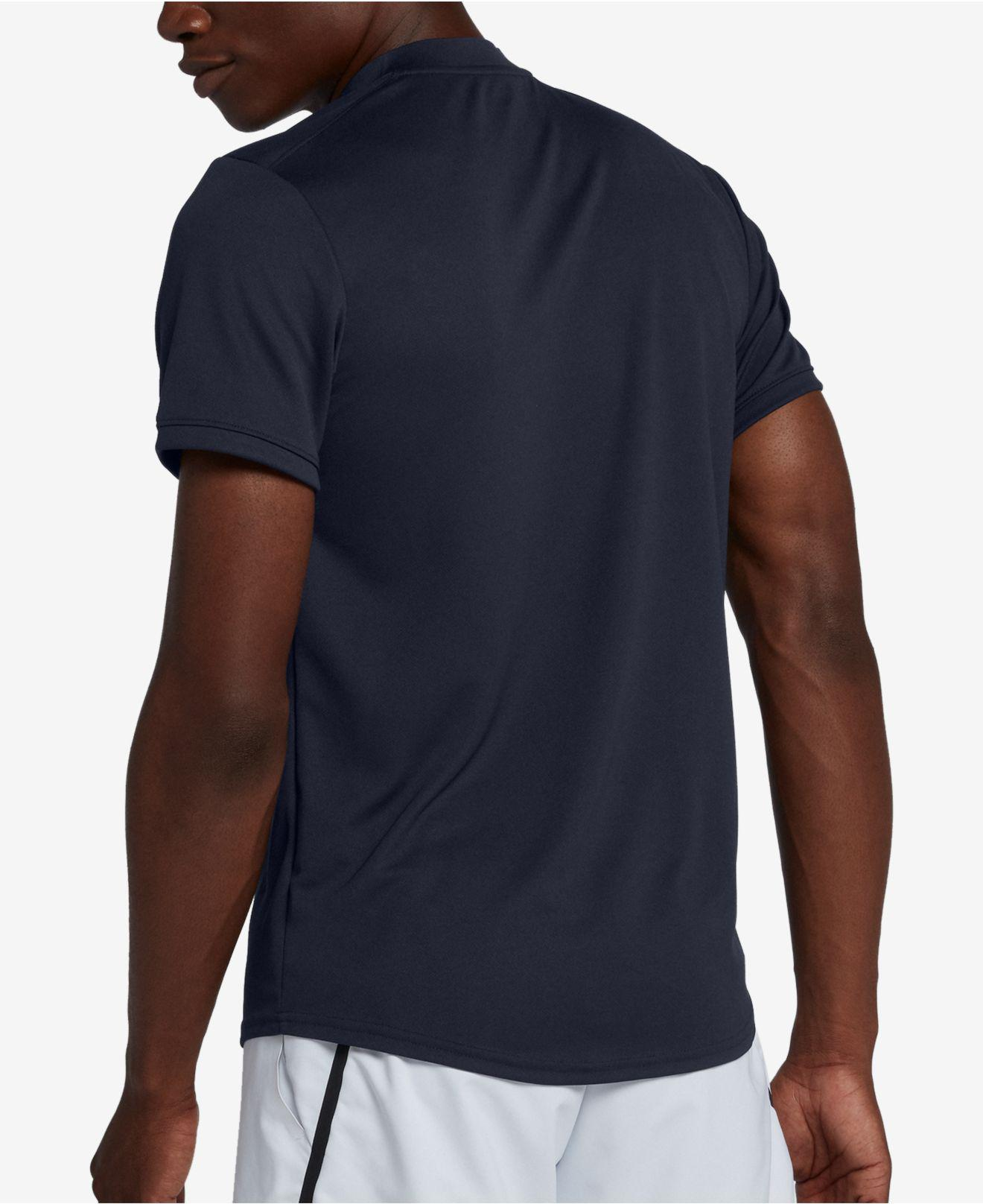 b3f54a03 Nike Court Dry Blade-collar Tennis Polo in Blue for Men - Lyst