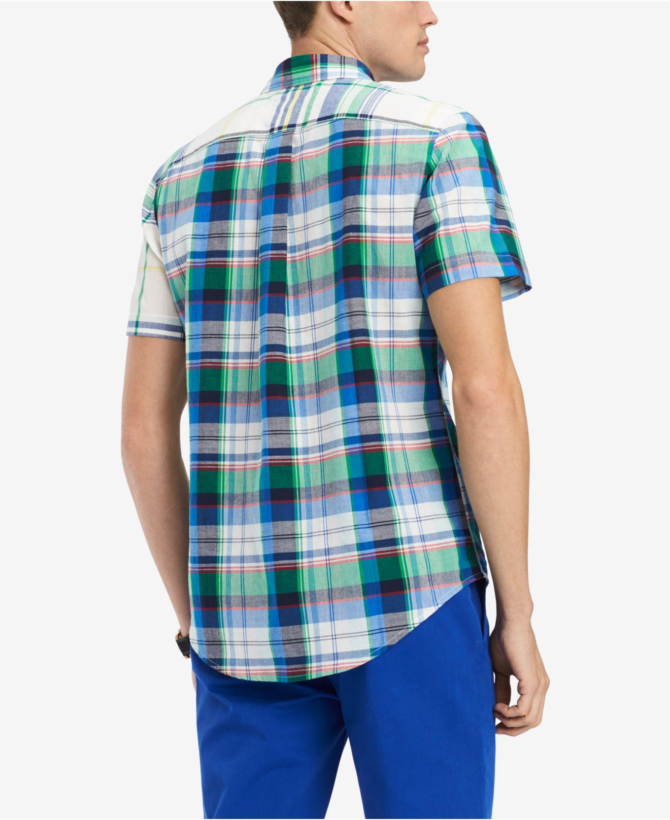 c486bd8d Lyst - Tommy Hilfiger Prescott Plaid Shirt, Created For Macy's in Blue for  Men