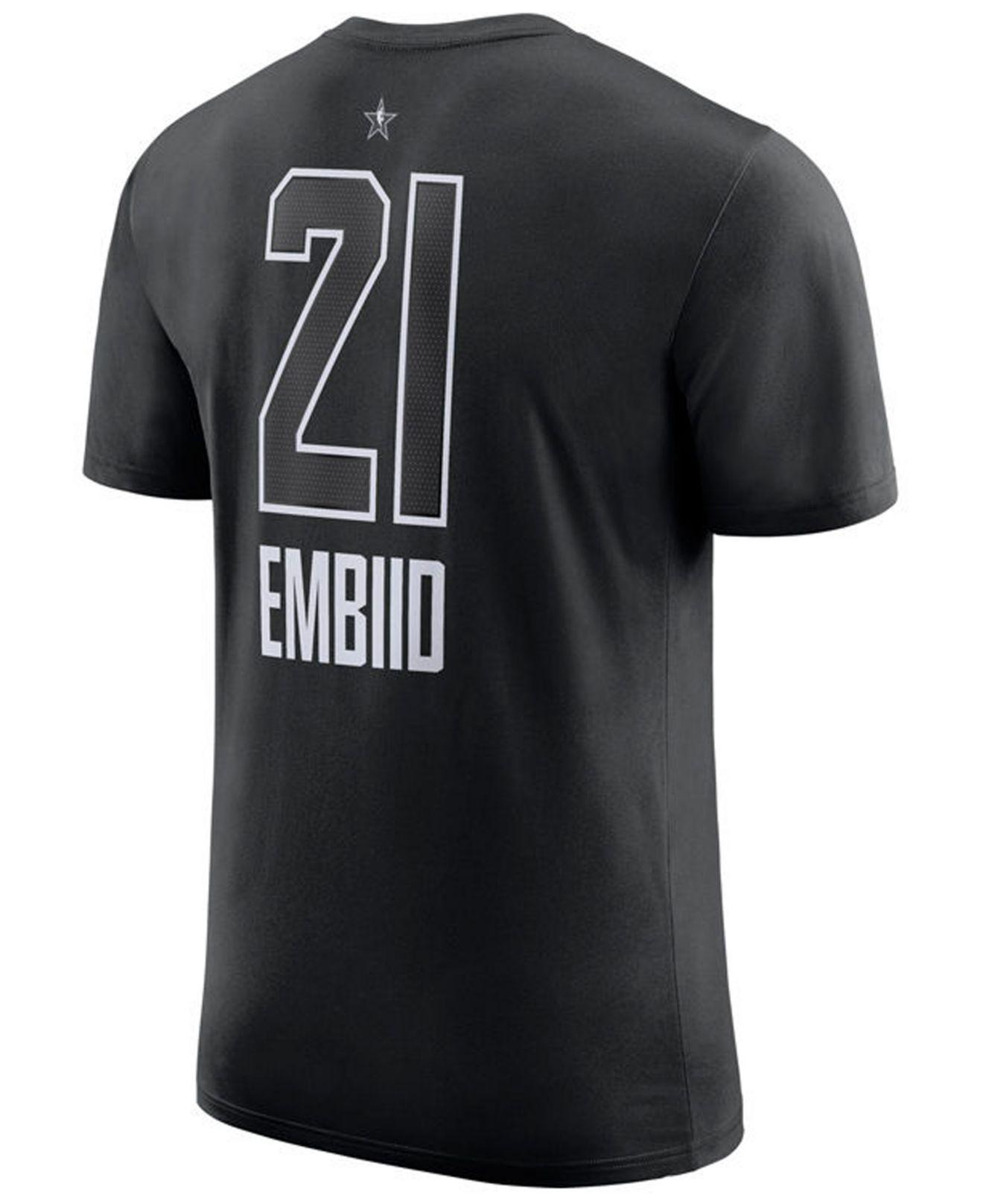 9aa556960d3648 Lyst - Nike Joel Embiid Philadelphia 76ers All-star Player T-shirt ...