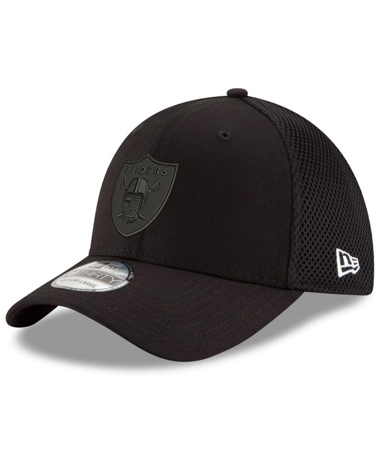 Lyst - KTZ Oakland Raiders Black white Neo Mb 39thirty Cap in Black ... 3caedbabcb7e