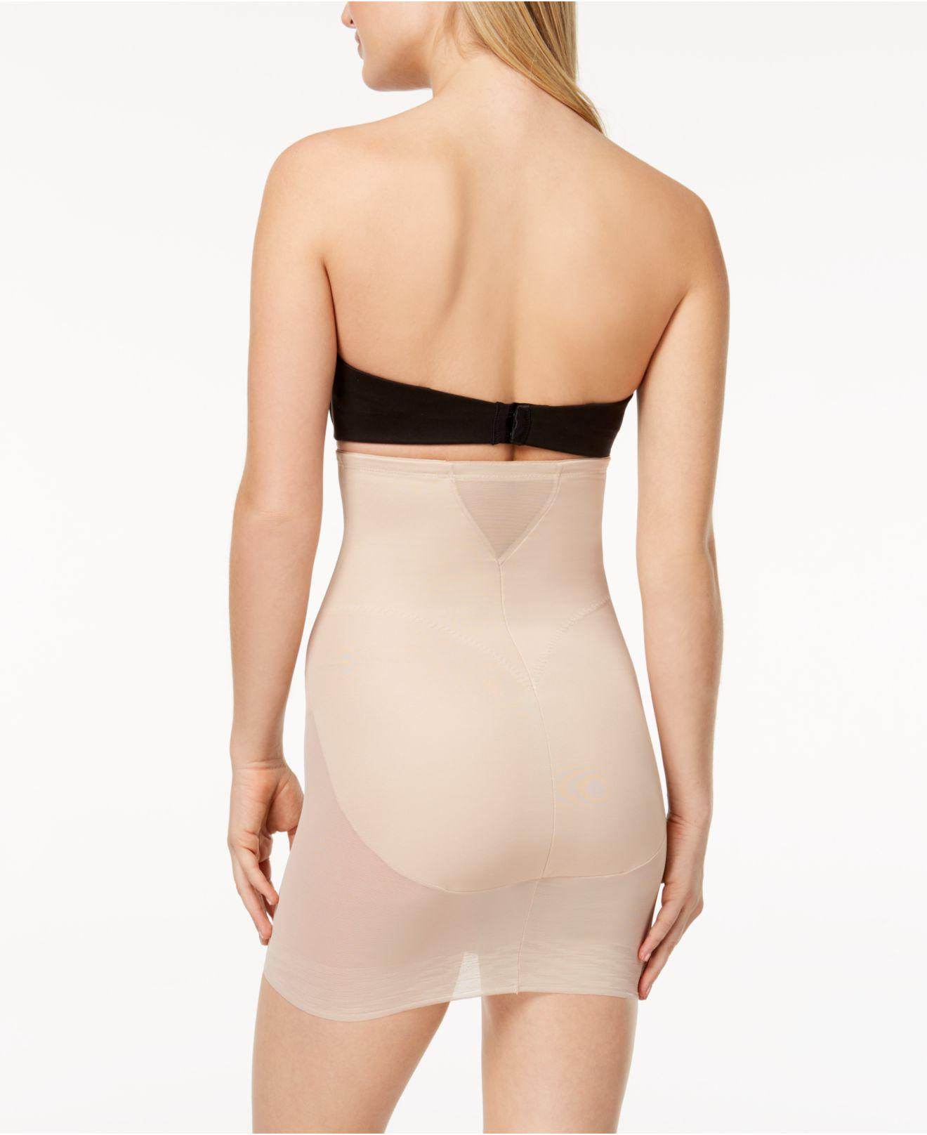 1a076d7079b Lyst - Miraclesuit Extra Firm Tummy-control High Waist Sheer Half Slip 2784  in Natural