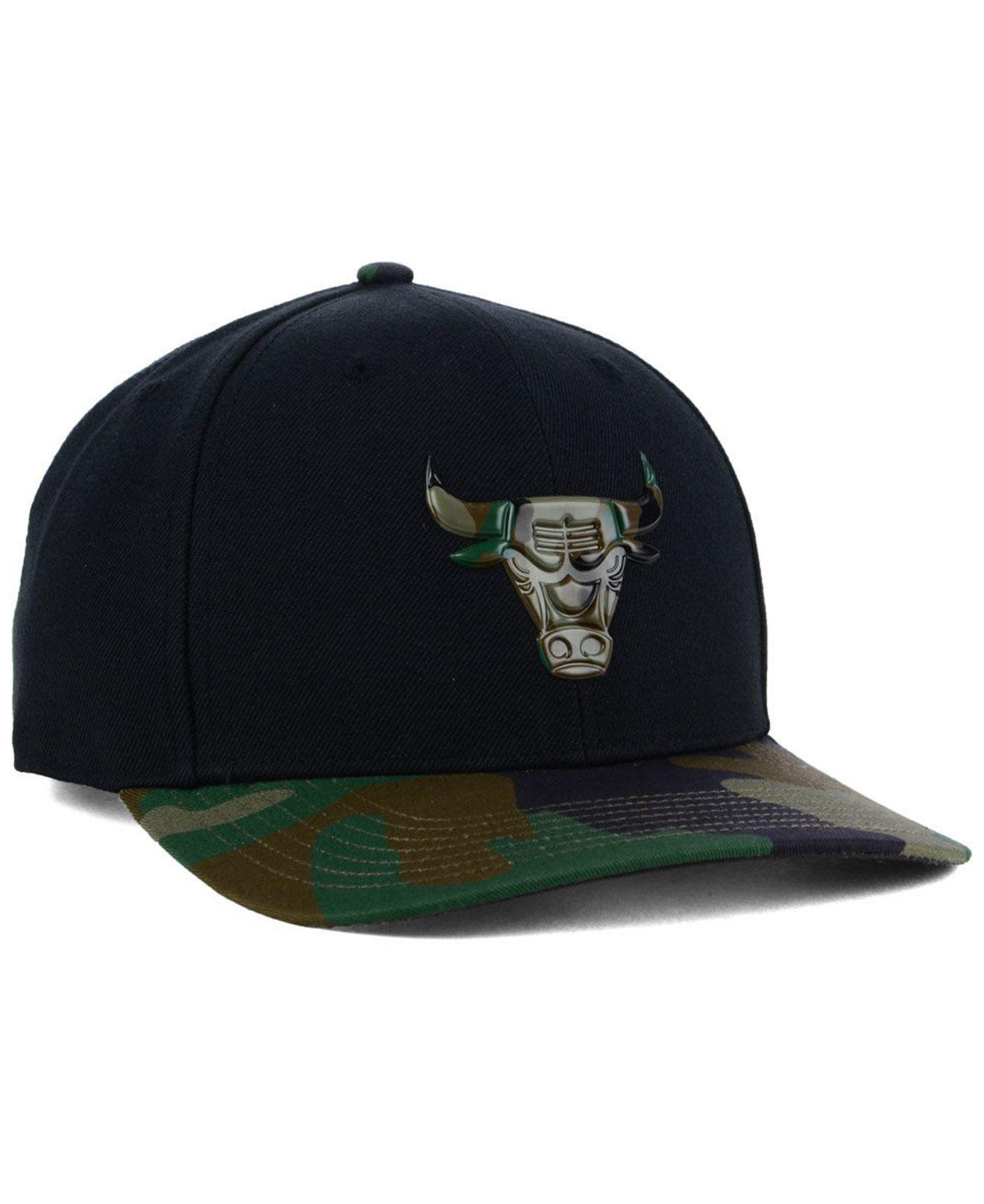 pretty nice e2a68 0e984 47 Brand - Black Chicago Bulls Caster Camo Mvp Cap for Men - Lyst. View  fullscreen