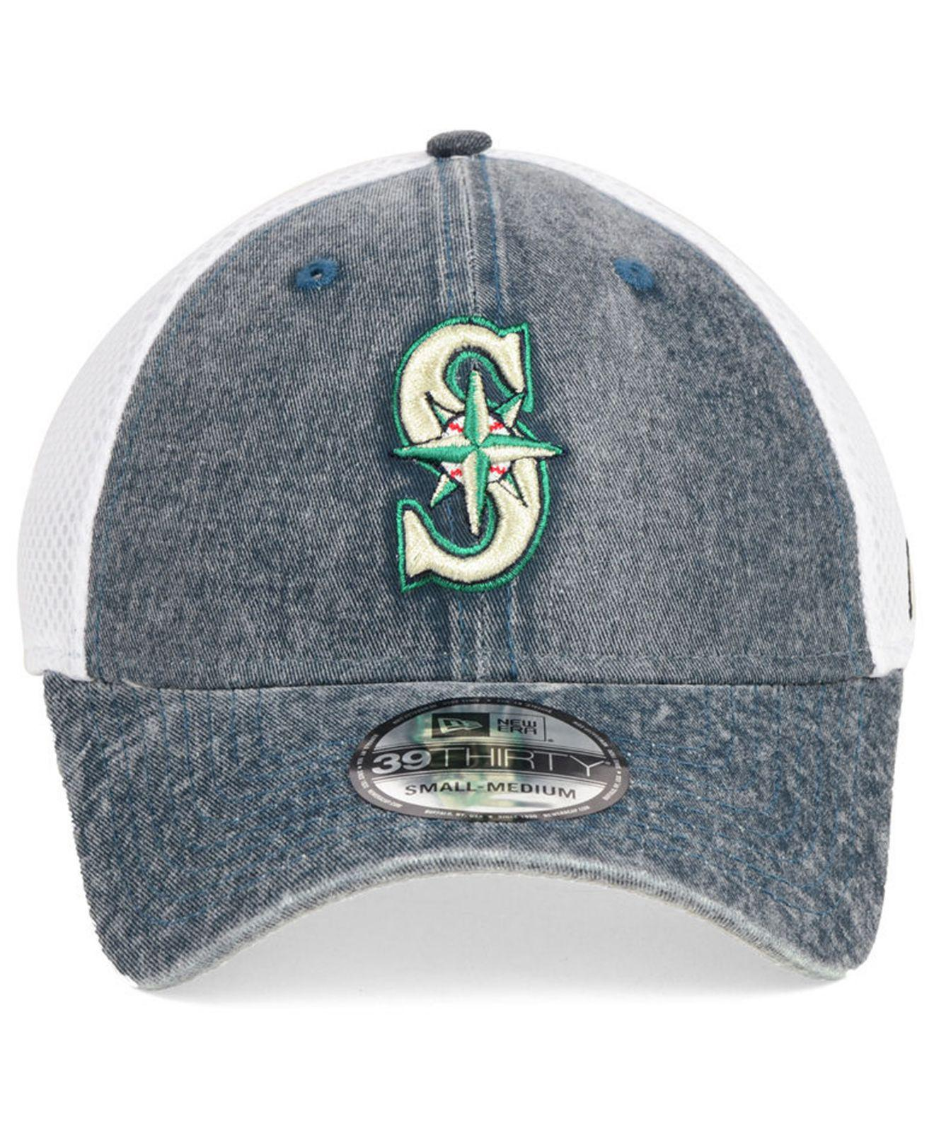 get cheap d7b73 0e1f0 czech seattle mariners new era 2018 mlb clubhouse 39thirty cap d45de 17987   france lyst ktz seattle mariners hooge neo 39thirty cap in blue for men  18c74 ...