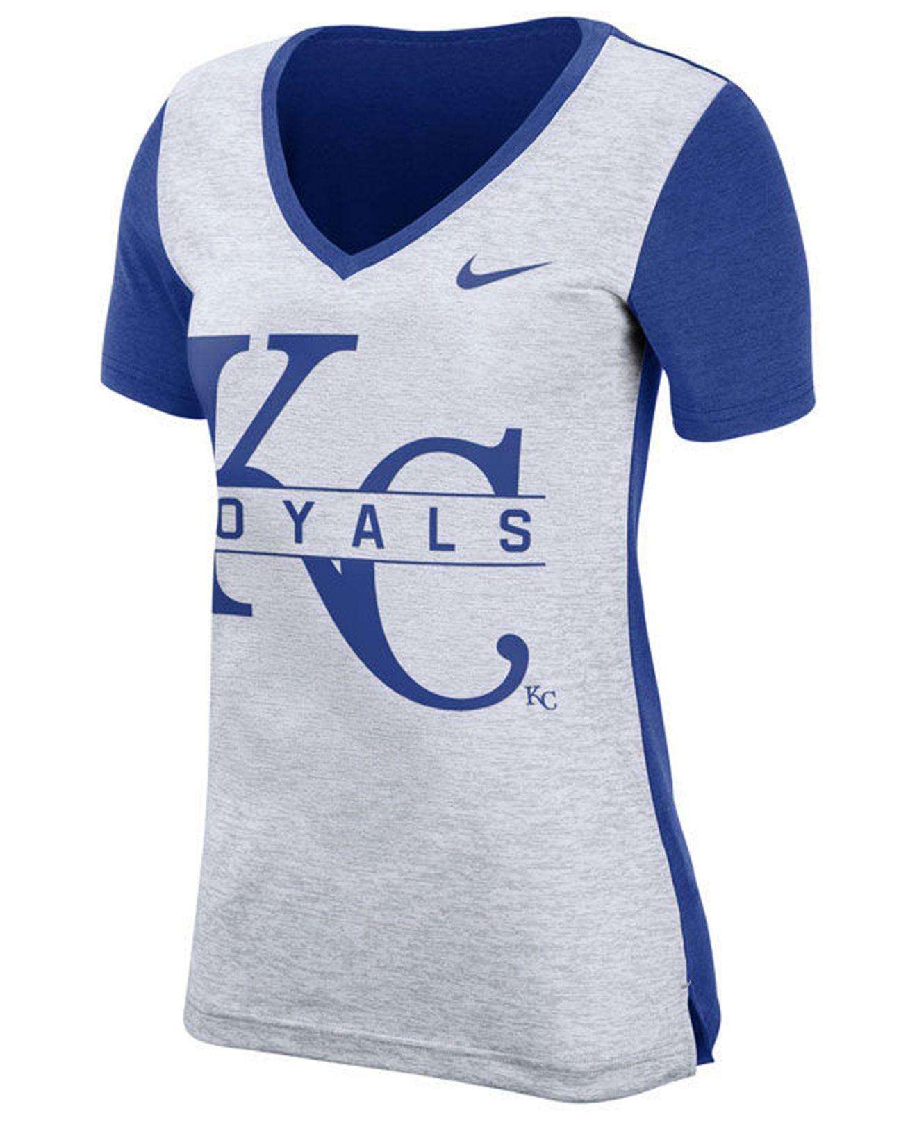 d3dc74b8 Lyst - Nike Kansas City Royals Dri-fit Touch T-shirt in Blue