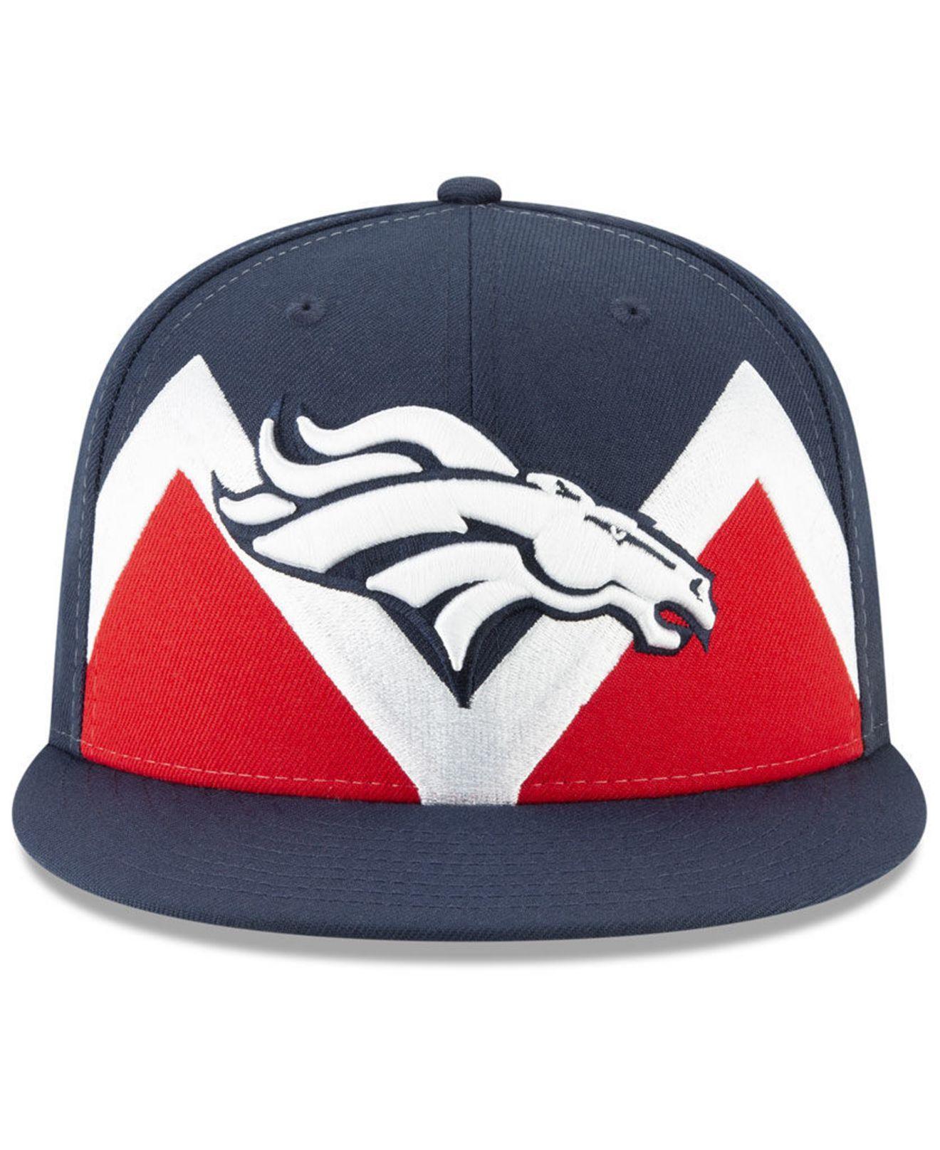 1f37227f Lyst - KTZ Denver Broncos Draft Spotlight 9fifty Snapback Cap in ...