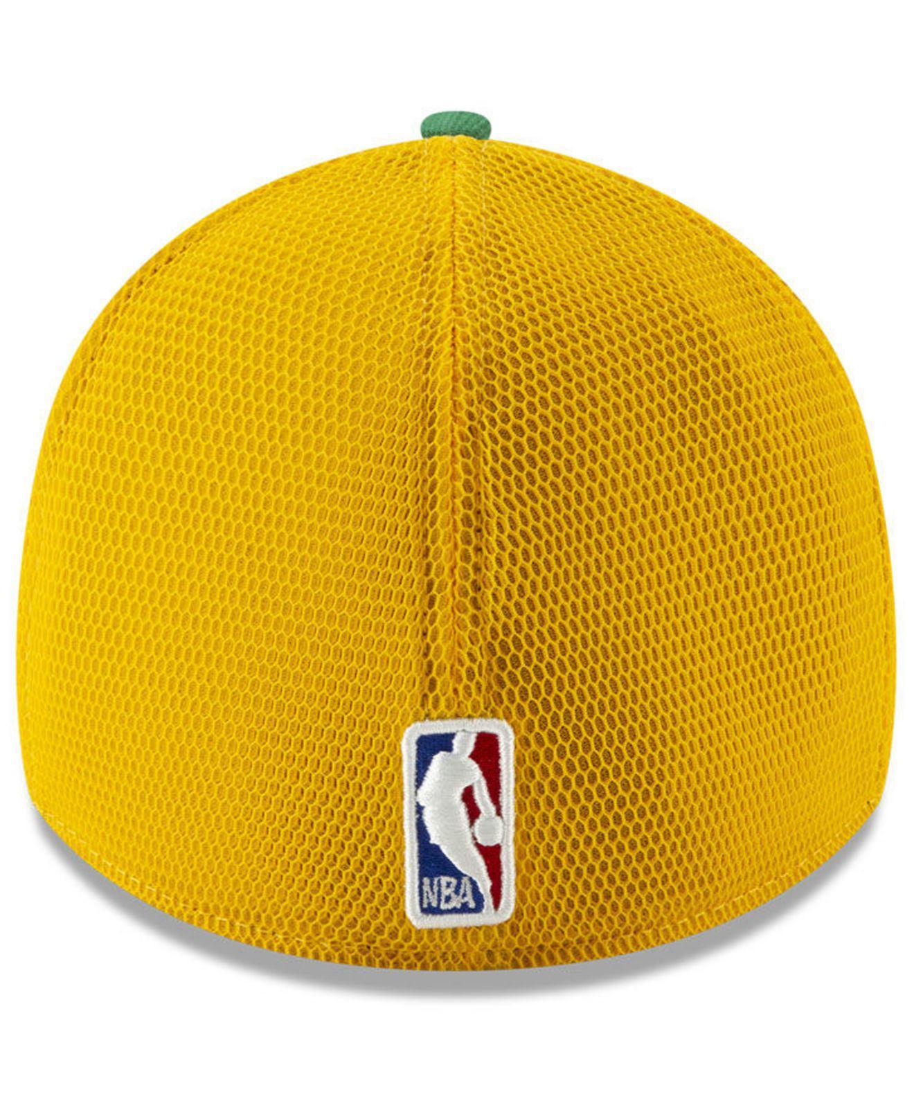 new arrivals 0cf71 99741 KTZ - Yellow Boston Celtics Earned Edition 39thirty Cap - Lyst. View  fullscreen