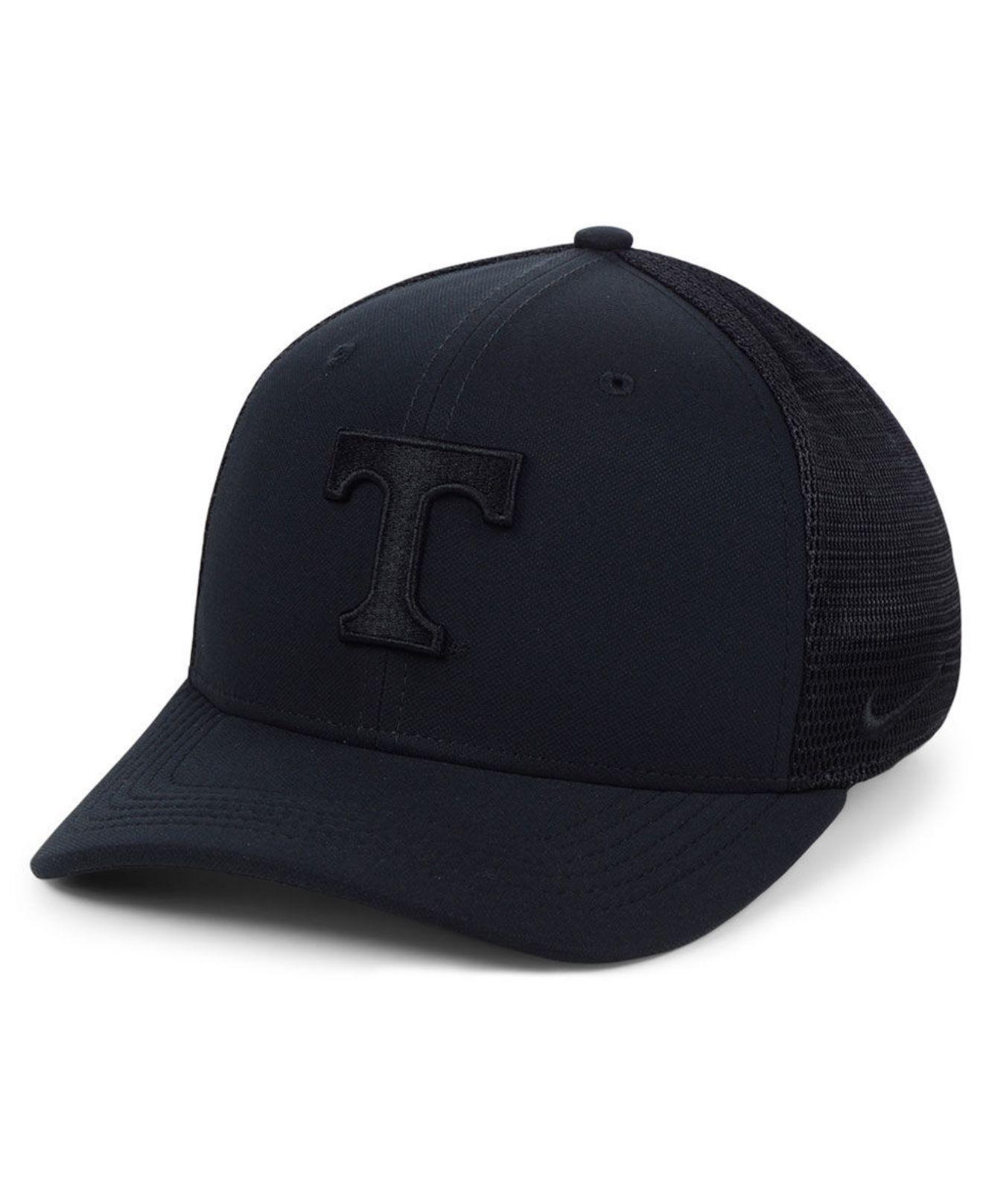 3beb751376af4 Lyst - Nike Tennessee Volunteers Aerobill Black Swoosh Cap in Black ...