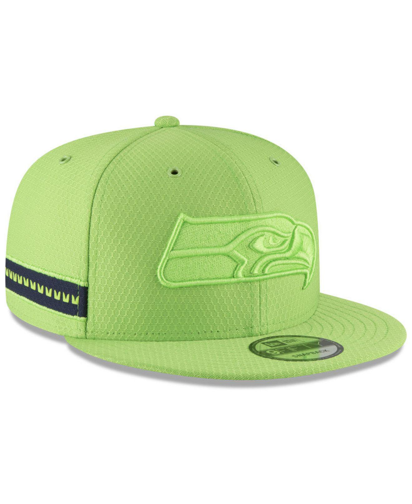 2cc858bacb4073 KTZ Seattle Seahawks On Field Color Rush 9fifty Snapback Cap in ...