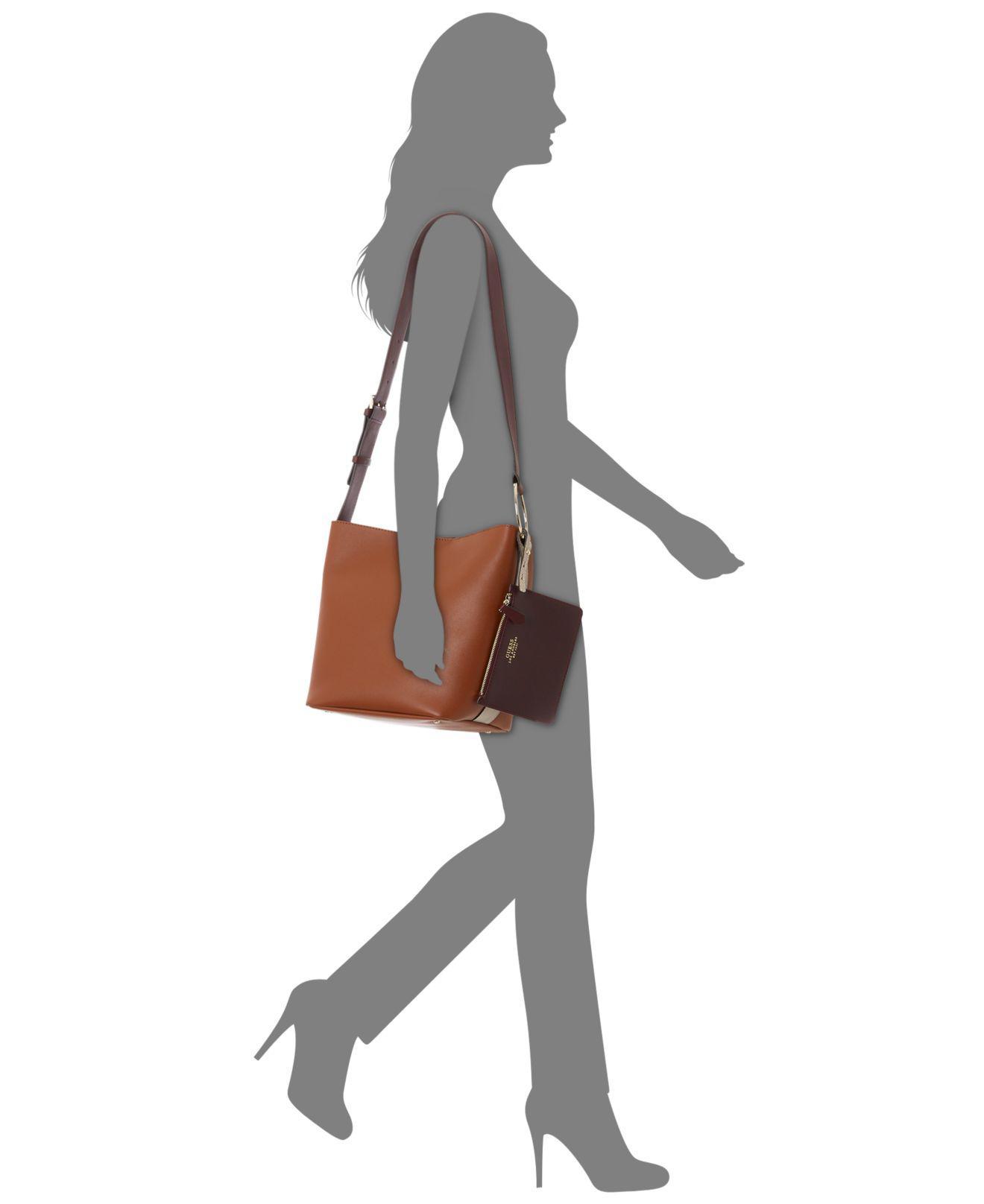 a9f823178de0f Lyst - Guess Ella Bucket Shoulder Bag