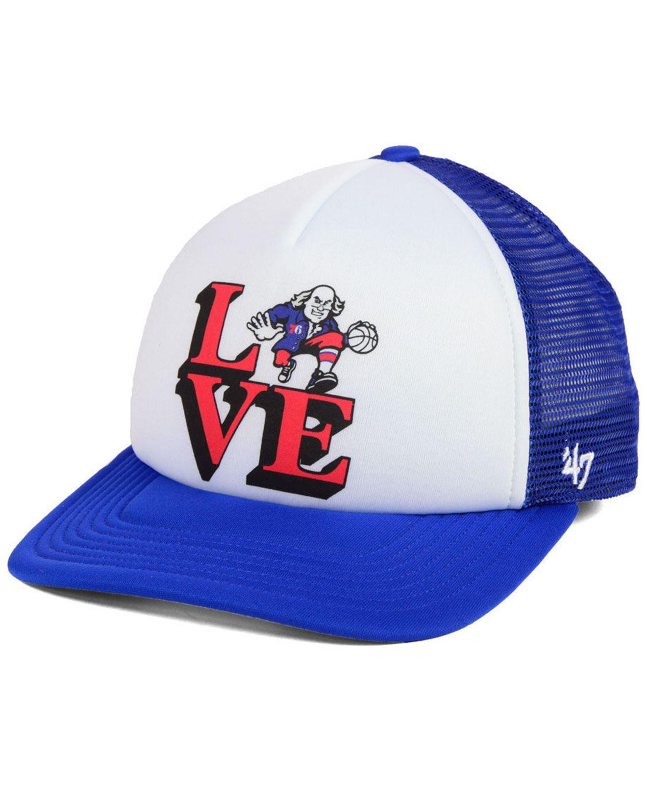 Lyst - 47 Brand Philadelphia 76ers Region Mesh Mvp Cap in Blue for Men 64fc9c1ce9fb