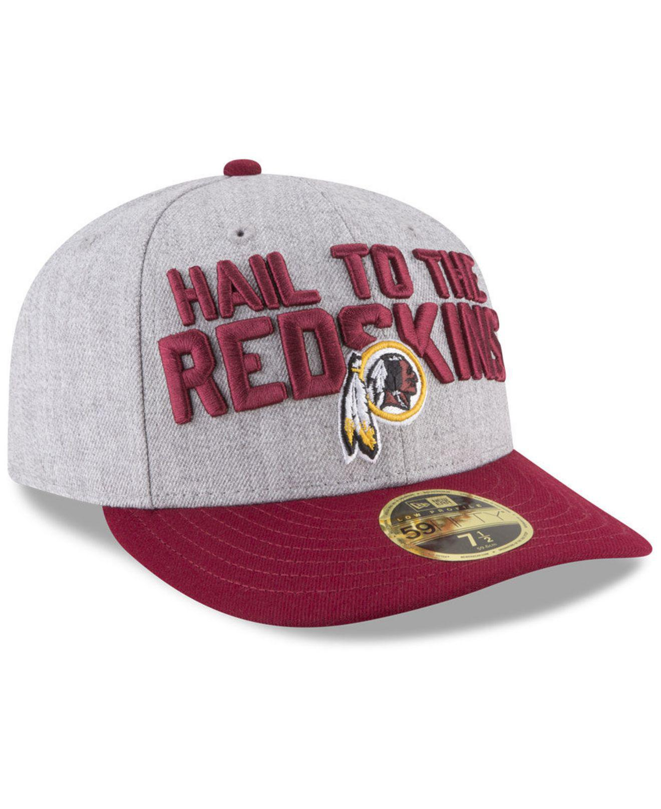 the best attitude b8062 b7842 KTZ - Multicolor Washington Redskins Draft Low Profile 59fifty Fitted Cap  for Men - Lyst. View fullscreen