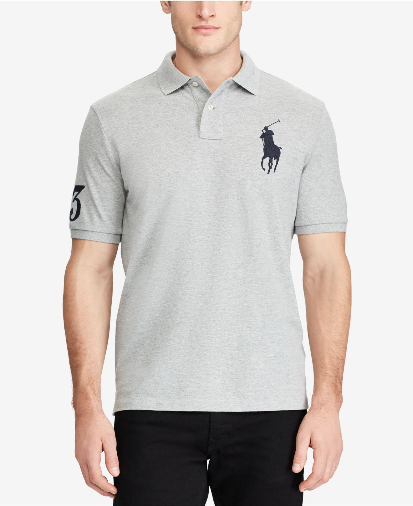 bdd640de3c18 ... top quality shirt bloomingdales2 polo ralph lauren gray mens classic  fit mesh polo for men lyst