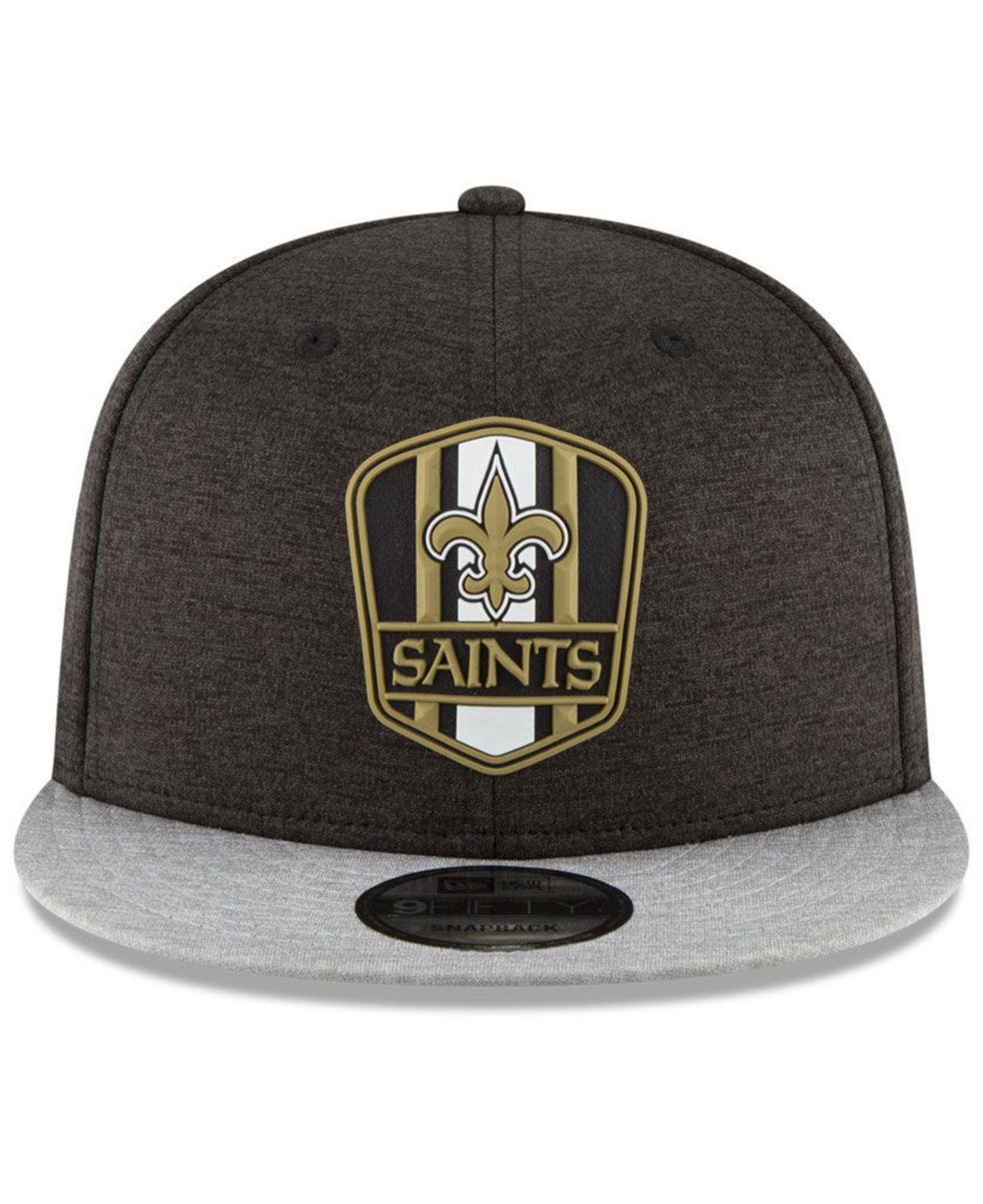 c937760013f ... nfl new era 20549427 piping 59fifty f3fc2 ab8f8  australia lyst ktz new  orleans saints on field sideline road 9fifty snapback cap in black for