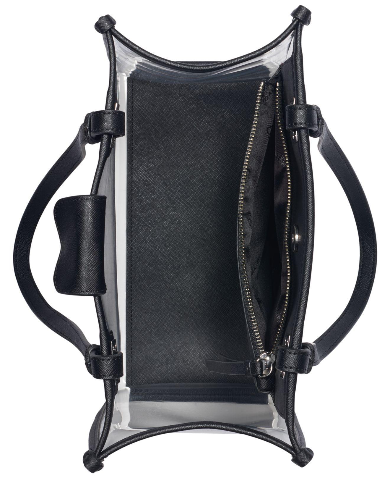 b1df3eead3 Calvin Klein Franzy Logo Clear Tote in Black - Lyst