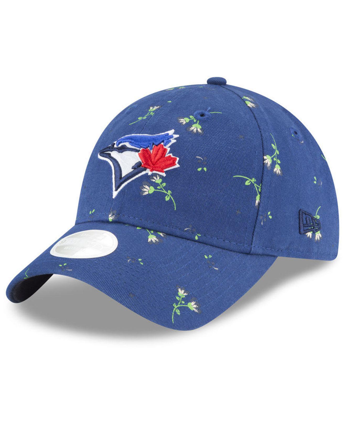 3a36ac56ce2 Lyst - KTZ Toronto Blue Jays Blossom 9twenty Strapback Cap in Blue ...