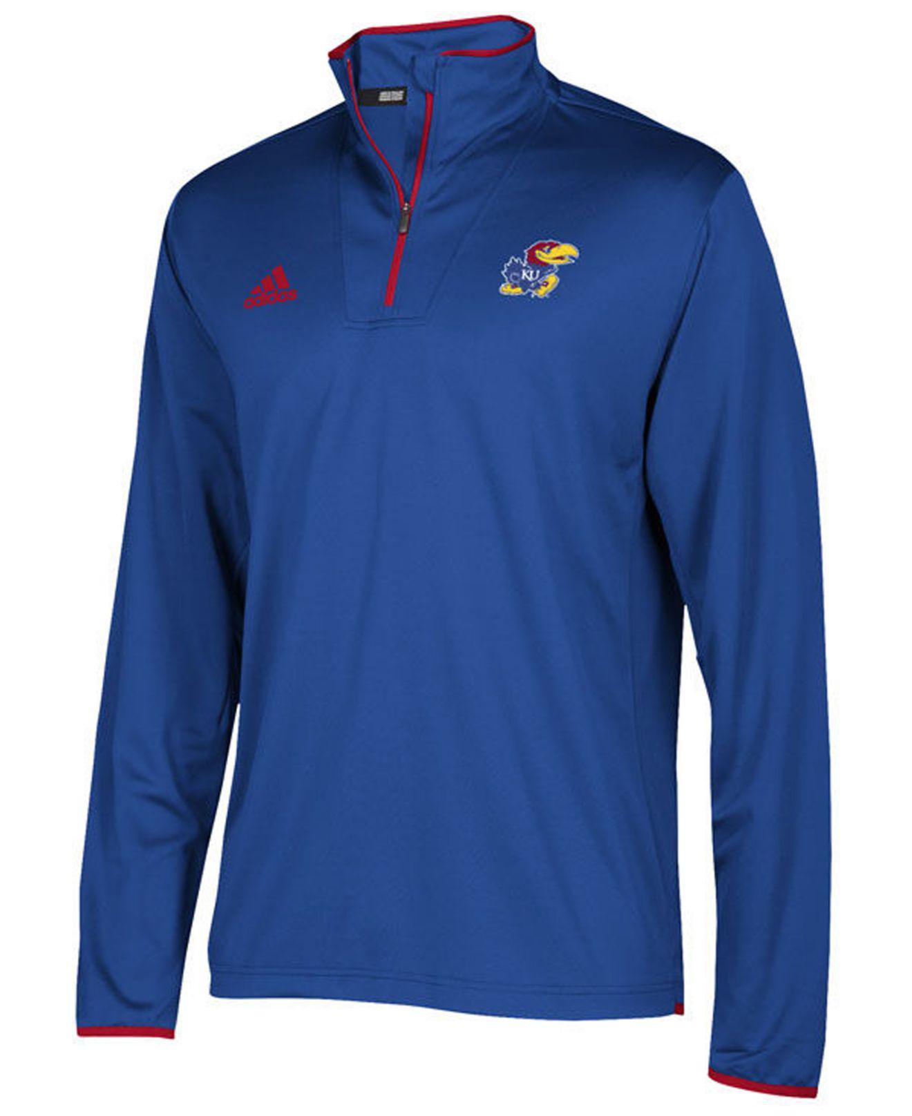 Lyst adidas Kansas Jayhawks Team Iconic Quarter zip