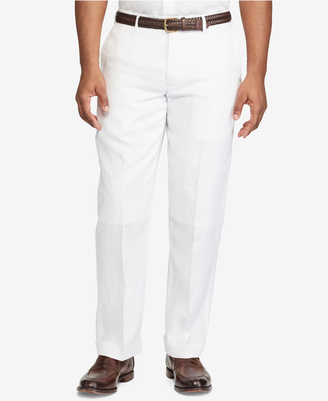 2c09f156f Lyst - Polo Ralph Lauren Men s Classic-fit Linen Pants in White for Men