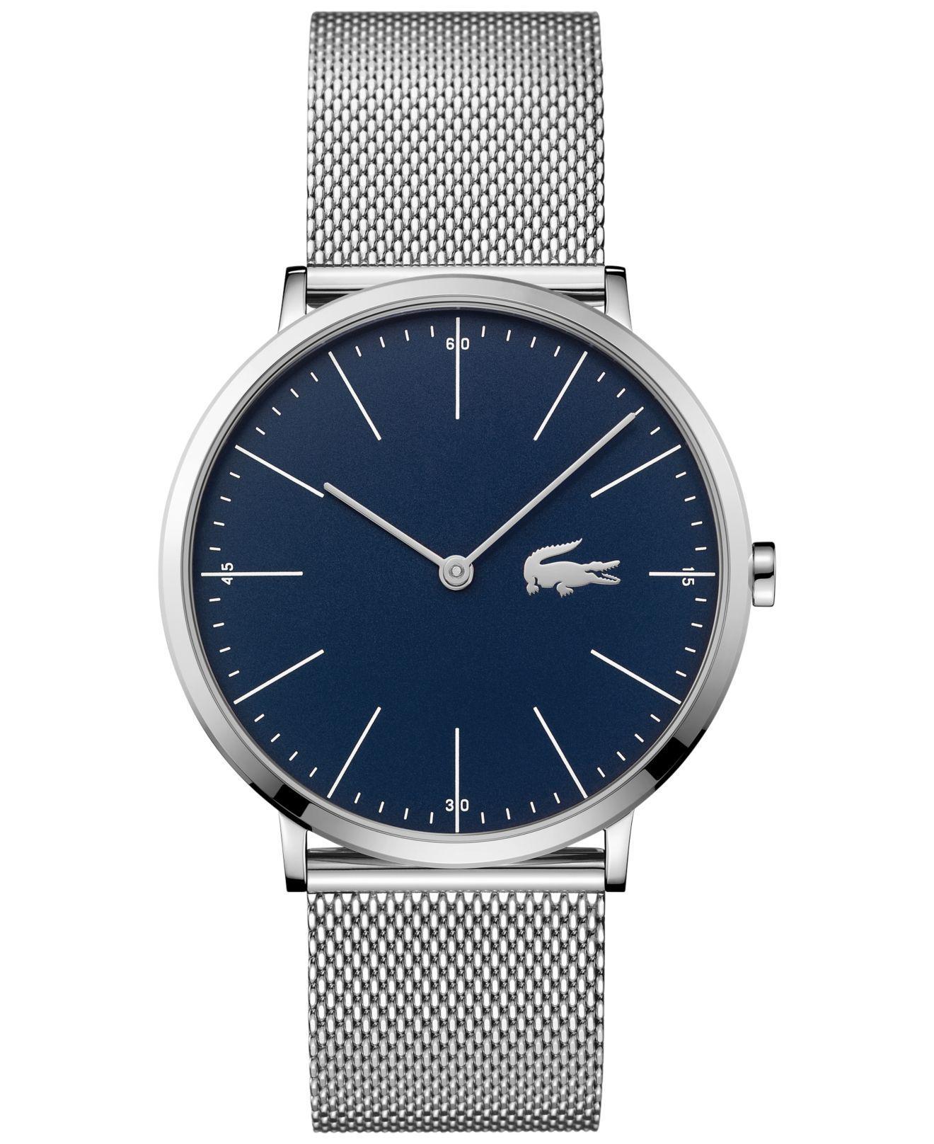 Lacoste. Metallic Men's Moon Stainless Steel Mesh Bracelet Watch ...