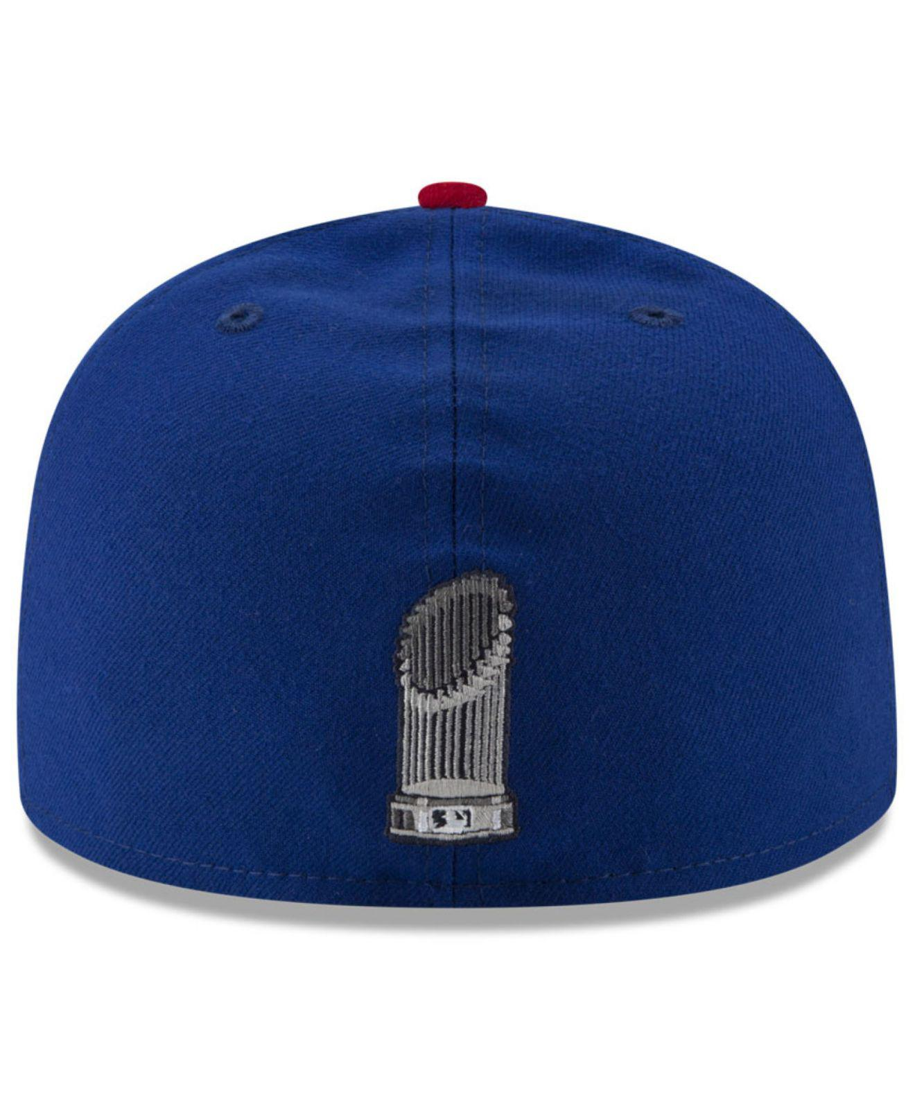 Lyst - Ktz Chicago Cubs World Series Trophy 59fifty Cap in Blue for Men 1962bae7a36