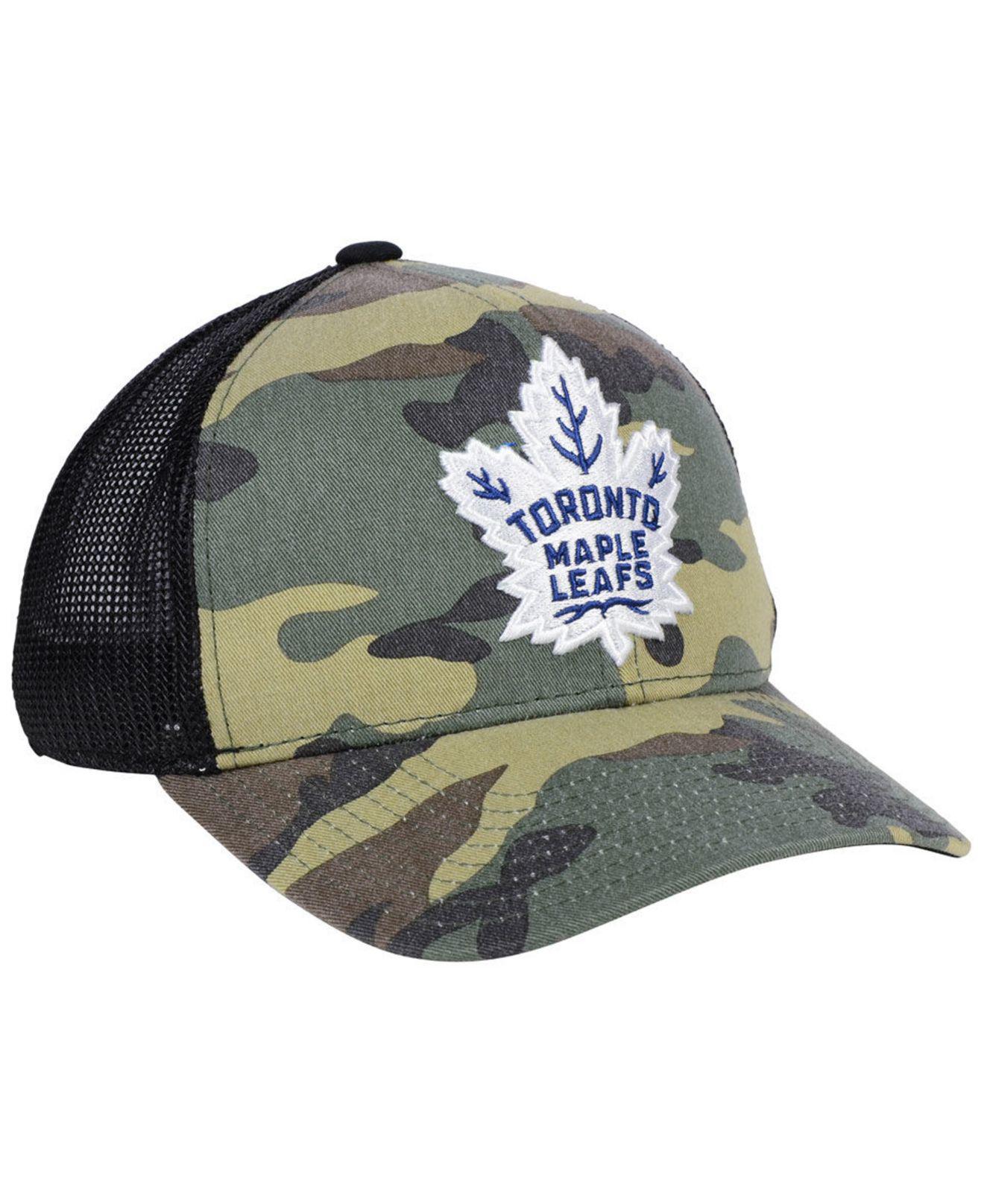657fc9e1017 Lyst - adidas Toronto Maple Leafs Camo Trucker Cap in Green for Men