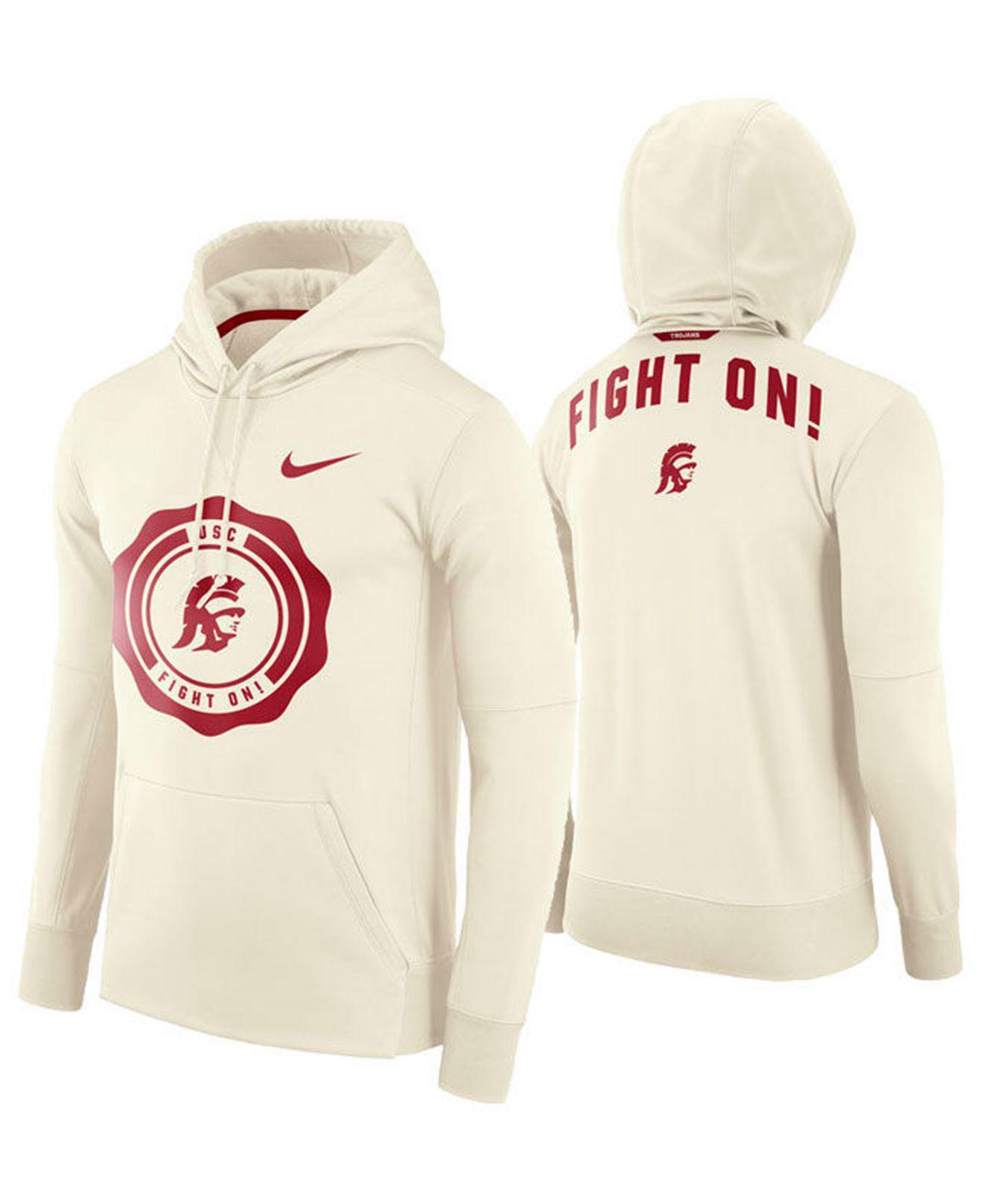 06efeb0aa6e9 Lyst - Nike Usc Trojans Rivalry Therma Hooded Sweatshirt in Natural ...