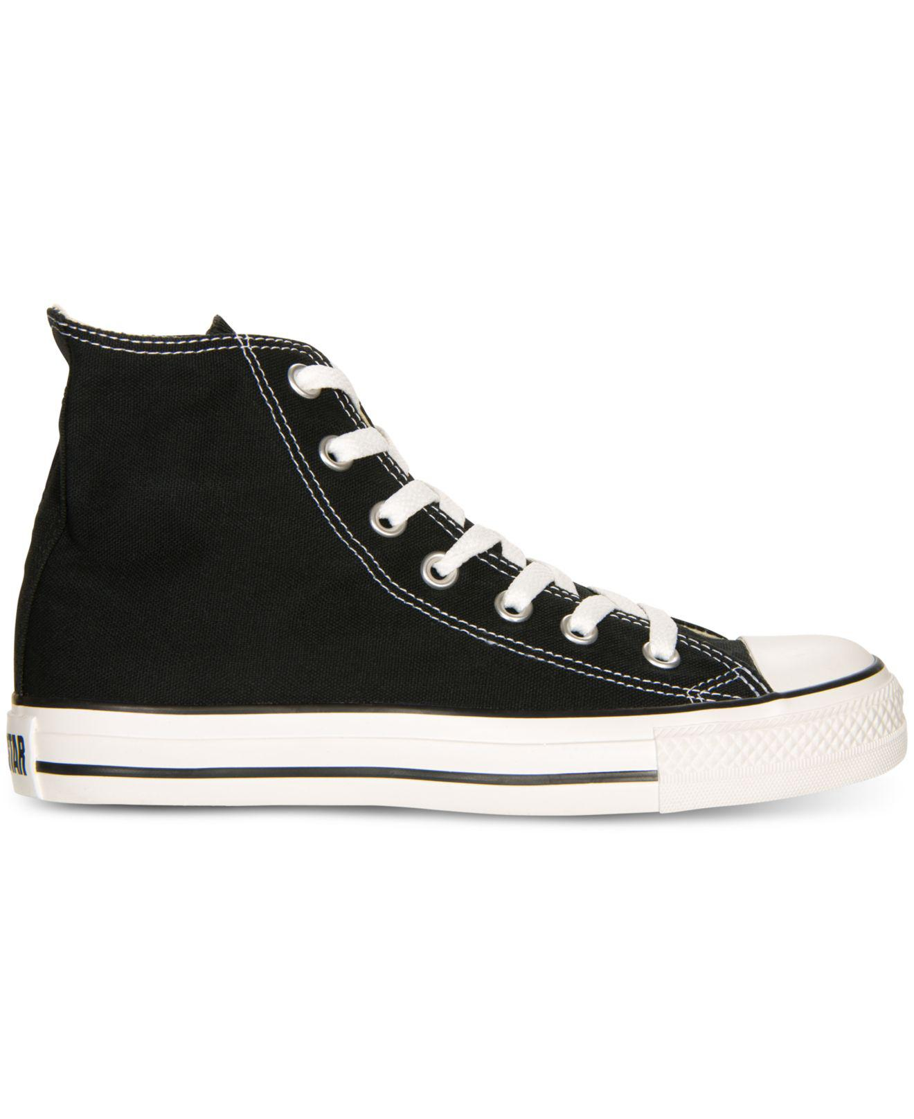 047c1f488d1 Lyst - Converse Women s Chuck Taylor All Star Hi Top Sneakers From Finish  Line in Black