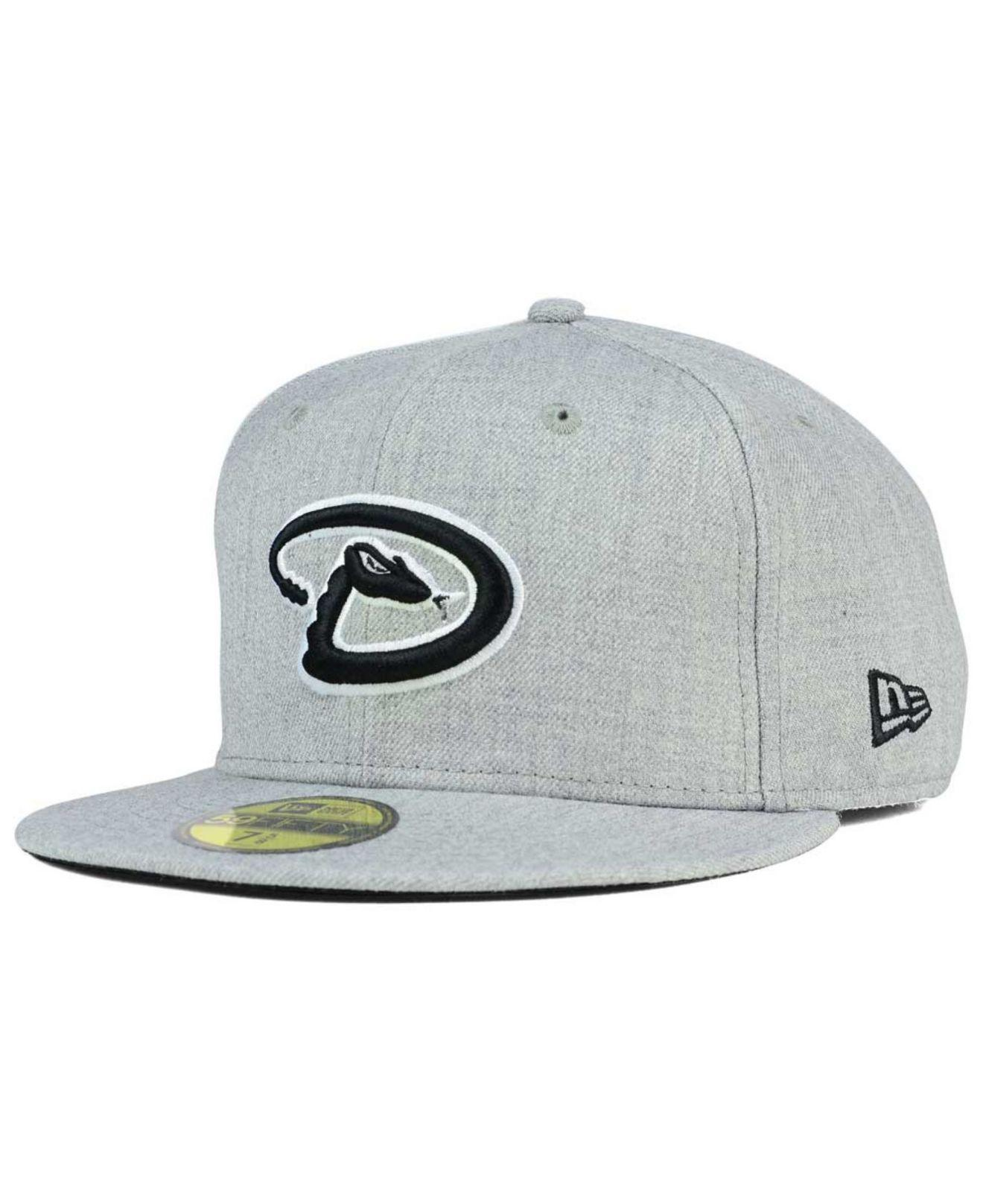 official photos 86a7c e72b8 KTZ. Men s Gray Arizona Diamondbacks Heather Black White 59fifty Cap