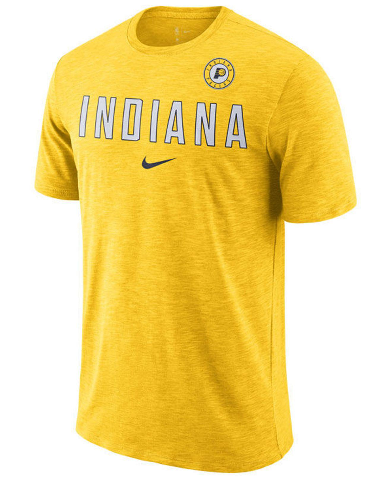 Lyst - Nike Indiana Pacers Essential Facility T-shirt in Yellow for Men 8f3baaa44