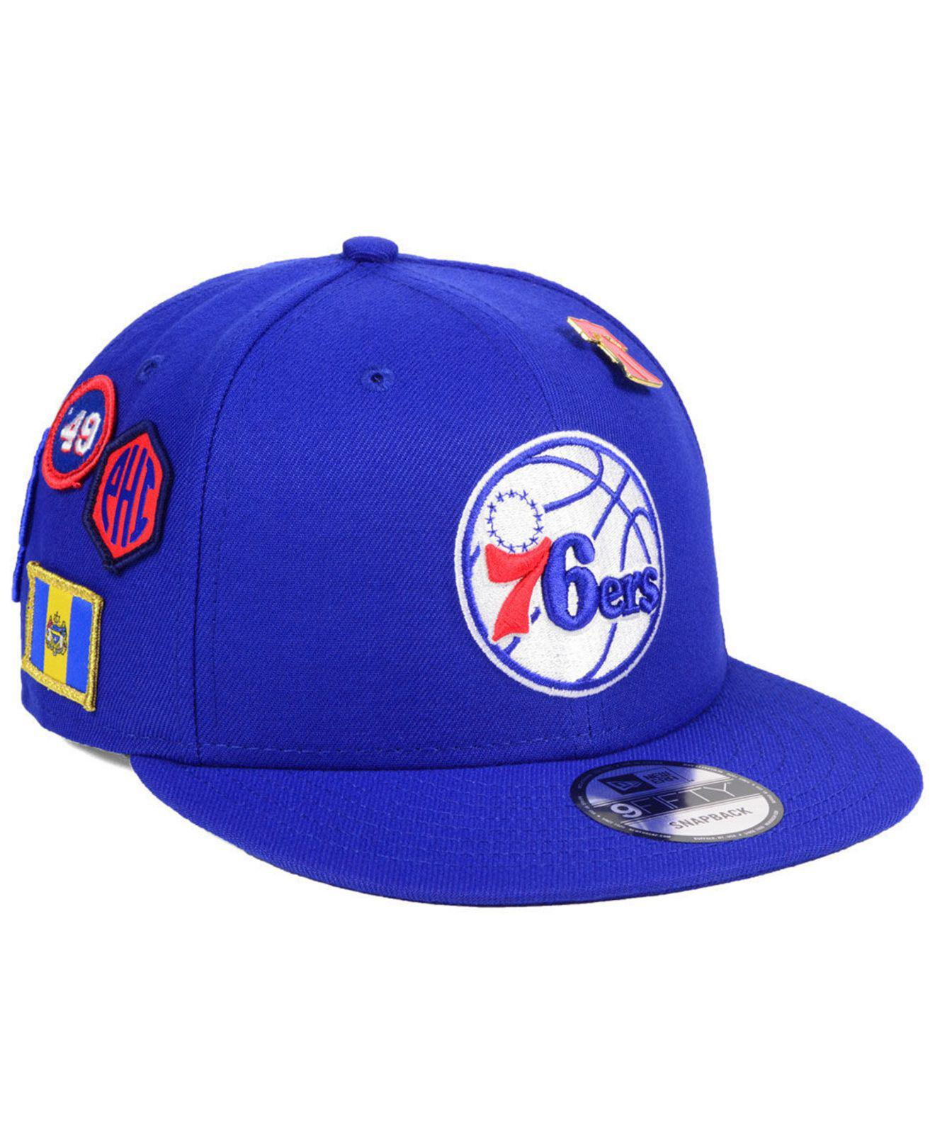 new product eece6 9b7d4 Lyst - Ktz Philadelphia 76ers On-court Collection 9fifty Snapback ...