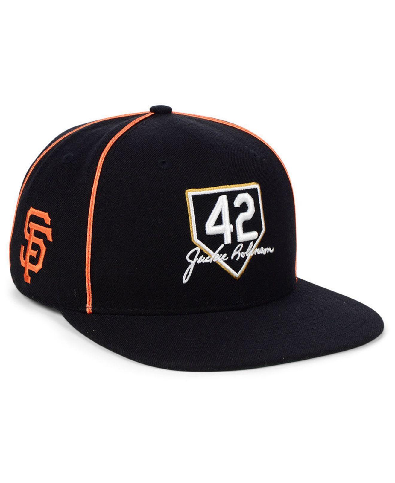 new concept 160d5 9387b 47 Brand. Men s Black San Francisco Giants Jackie Robinson 42 Team Snapback  Cap